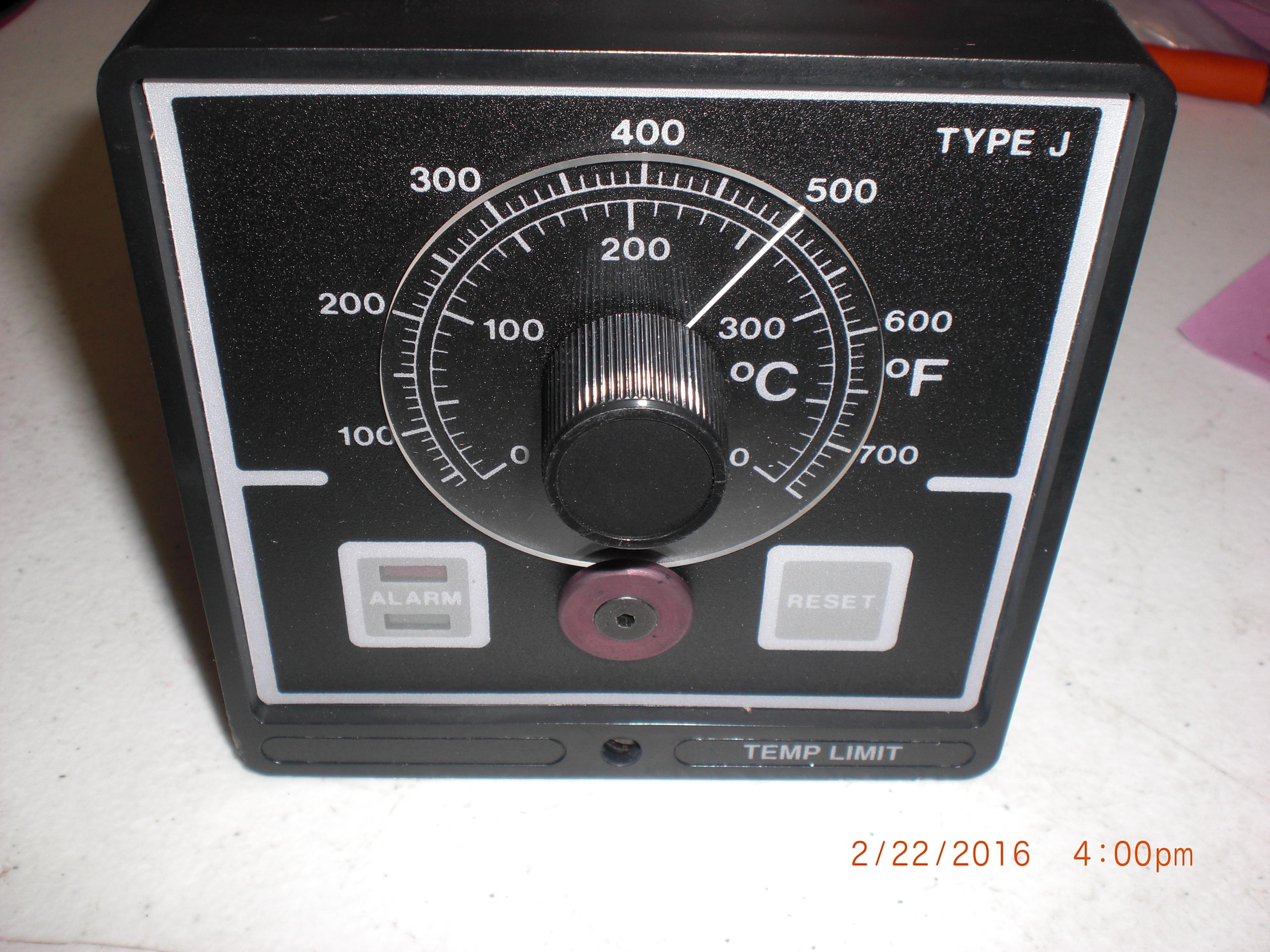 Controller BLUE M ELECTRIC  62517001 Temp Limit  TYPE J