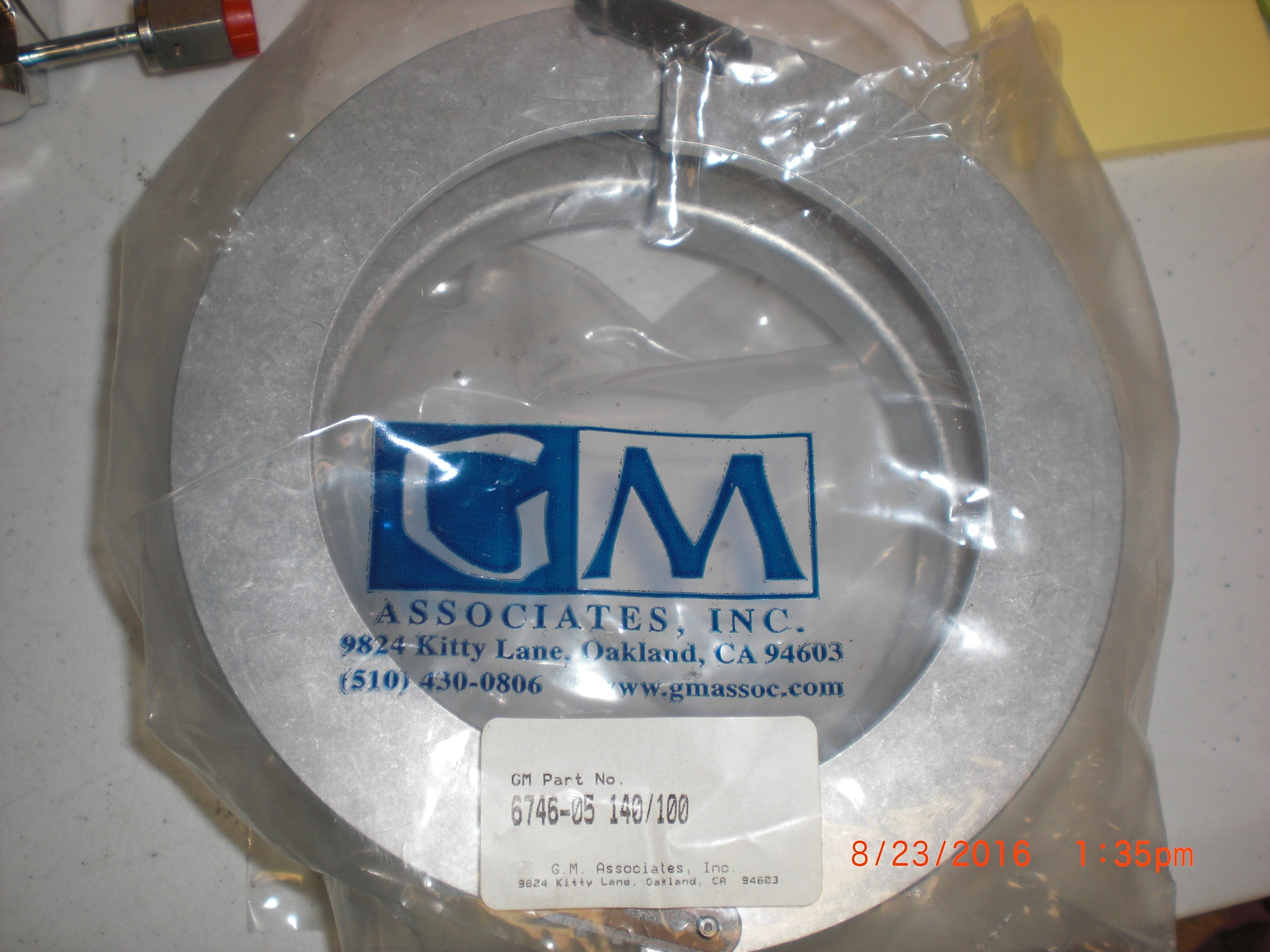 Clamp  140/100 Apparatus  for Quartz  GM ASSOCIATES 6746-05