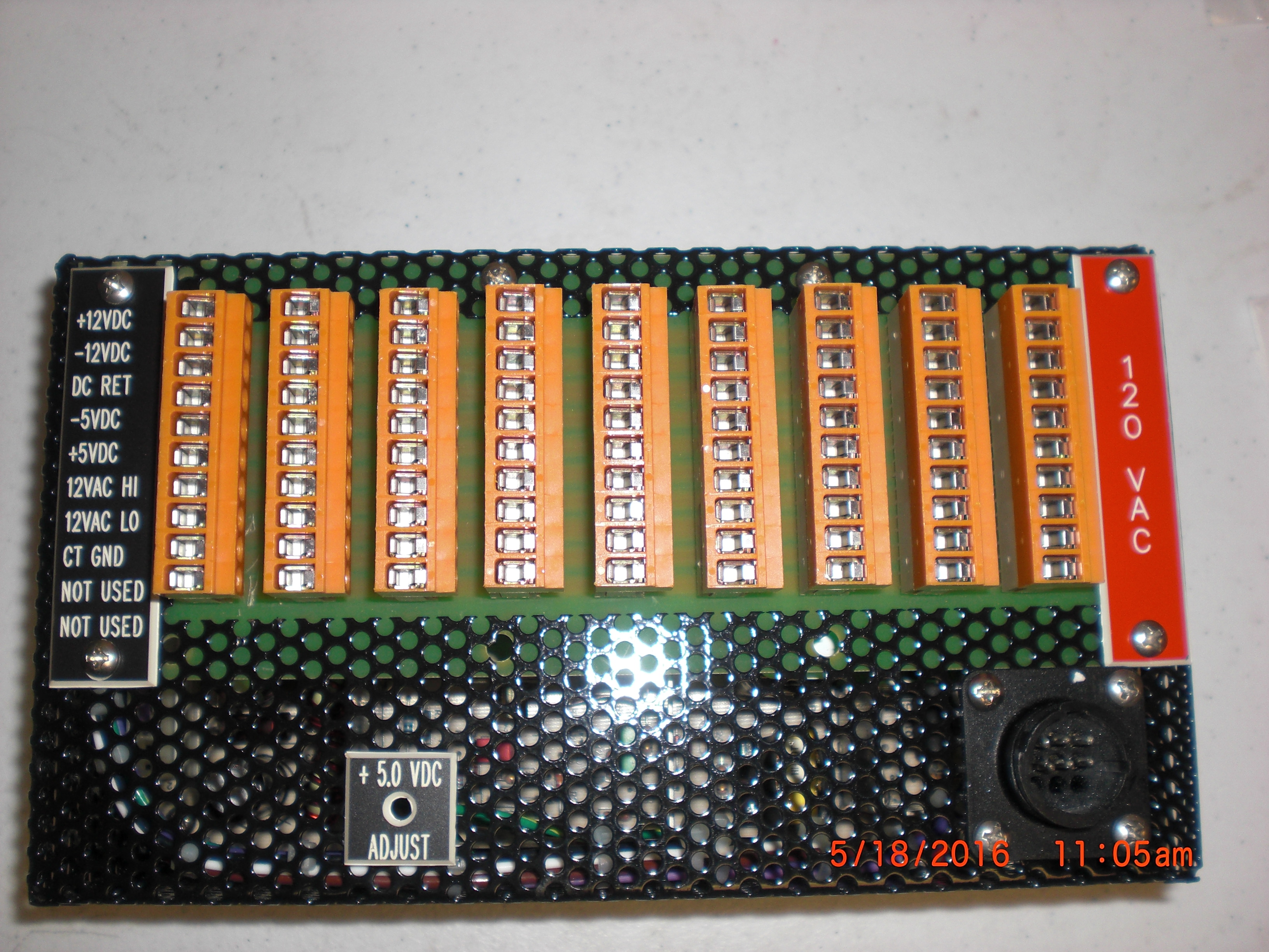 Power Supply  SCP GLOBAL 6840104B-00 LVM+12VDC, +5VDC, -12VDC -5VDC