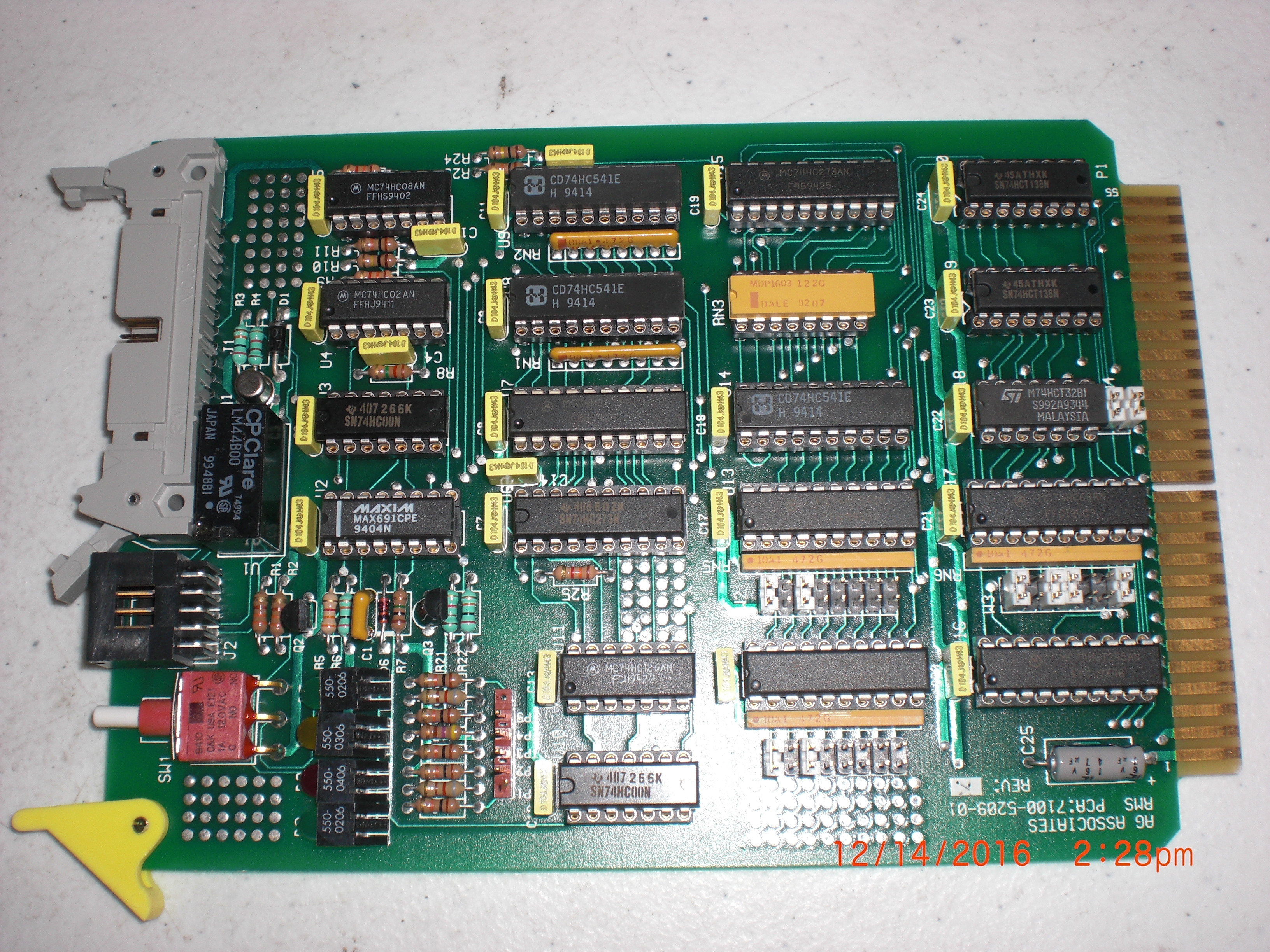 PCB RMS Board   A.G. ASSOCIATES  7100-4066-01   Untested