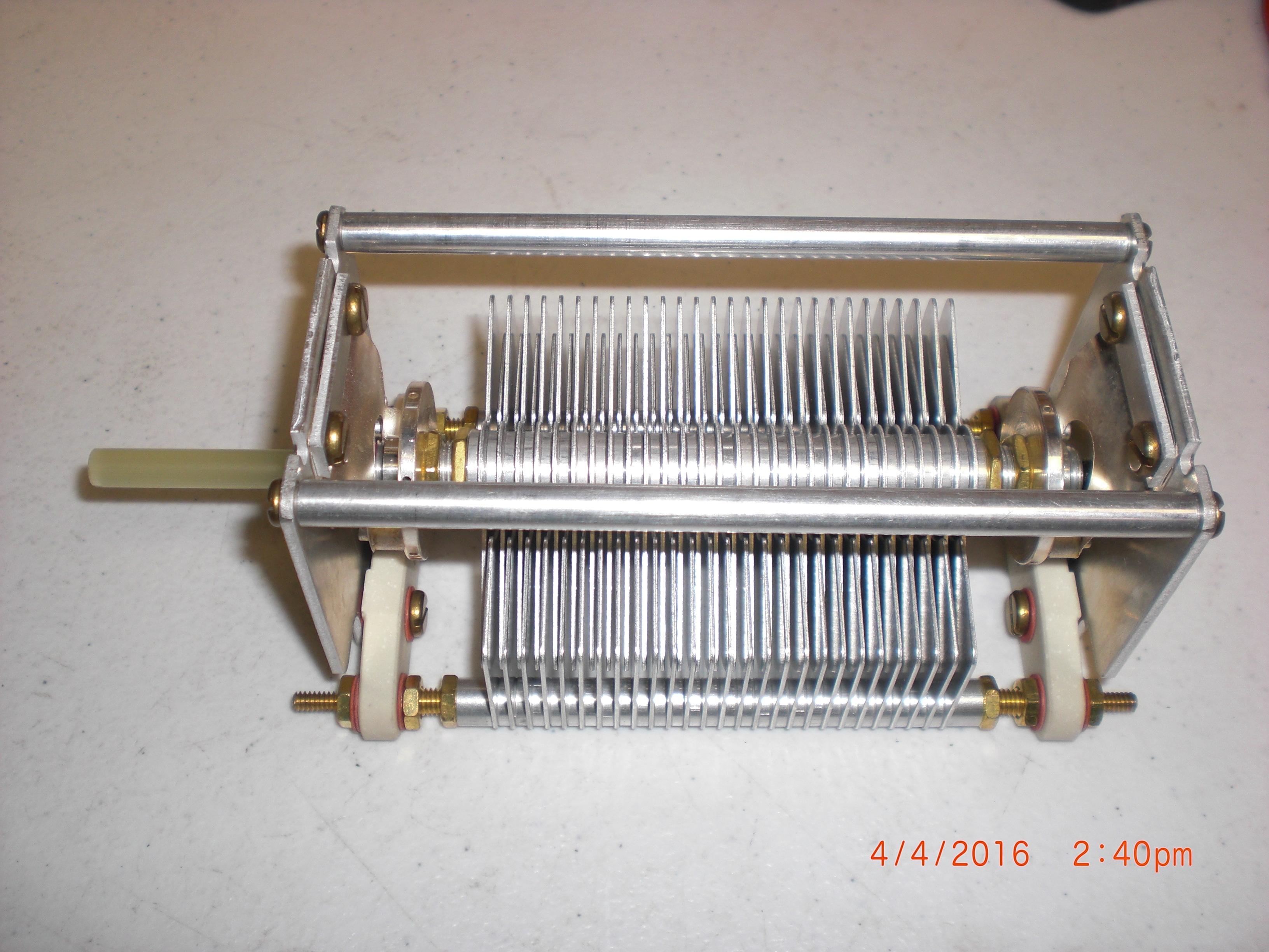 """RF Systems OREN-ELLIOTT 73-1-30-55 CAP VAR AIR 900V 1000PF .03""""GAP SGL-SECT 63PLT/S"""