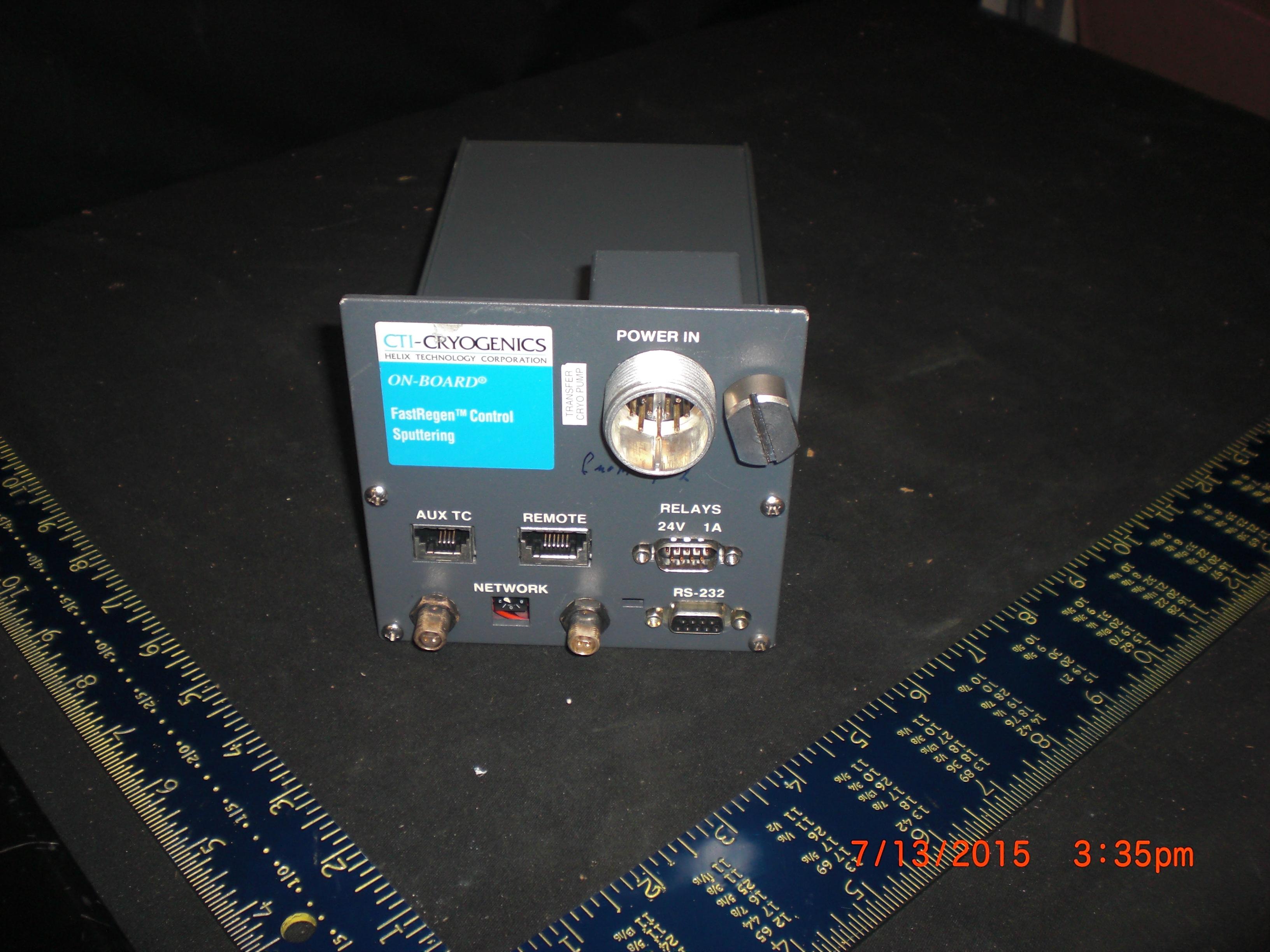 Cryogenics  CTI-CRYGENICS 8113036G001 On-Board Module FastRegen Control Sputtering