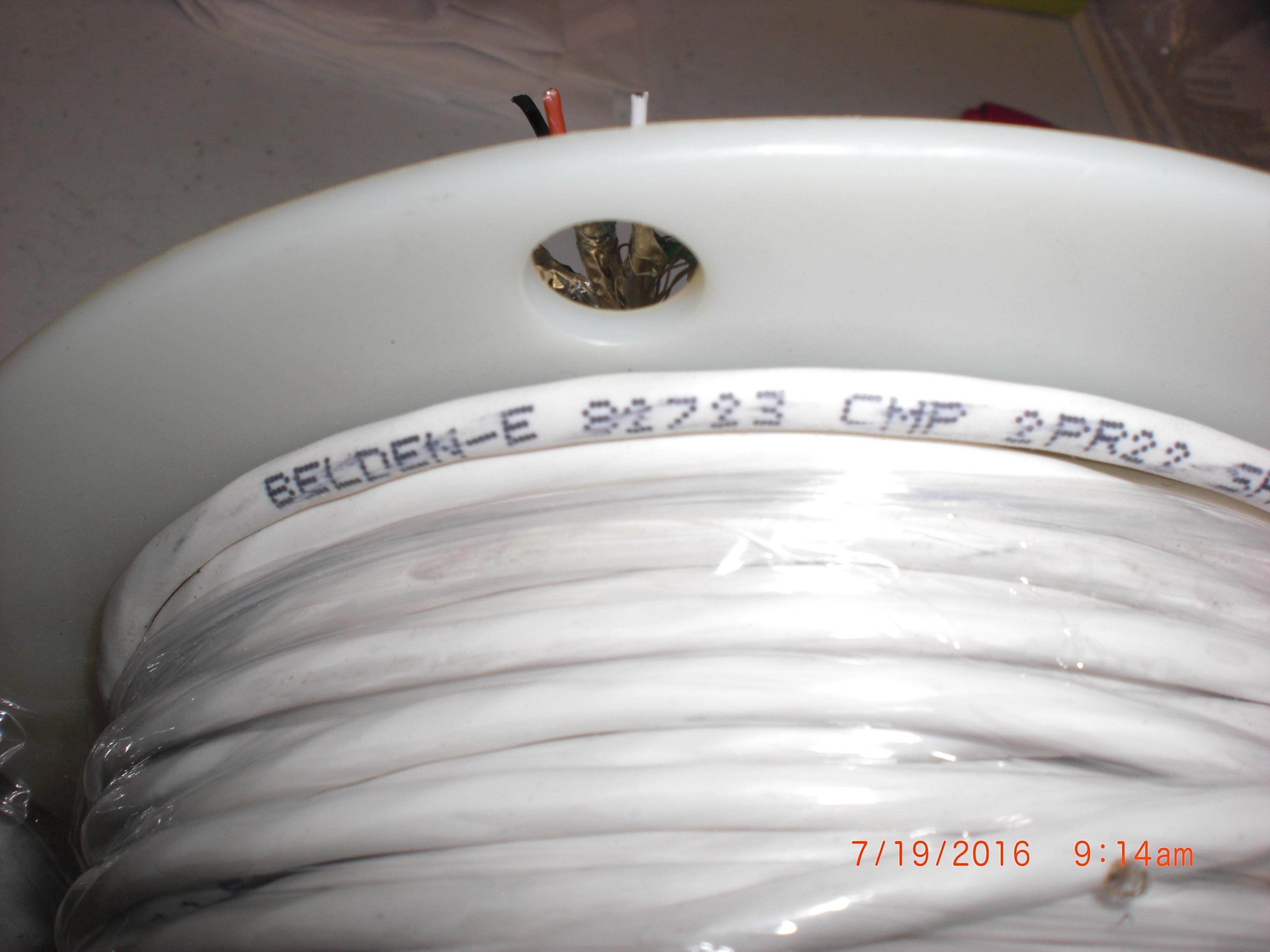 Cable BELDEN 81723 Cable 100ft  2PR22 shielded CMP