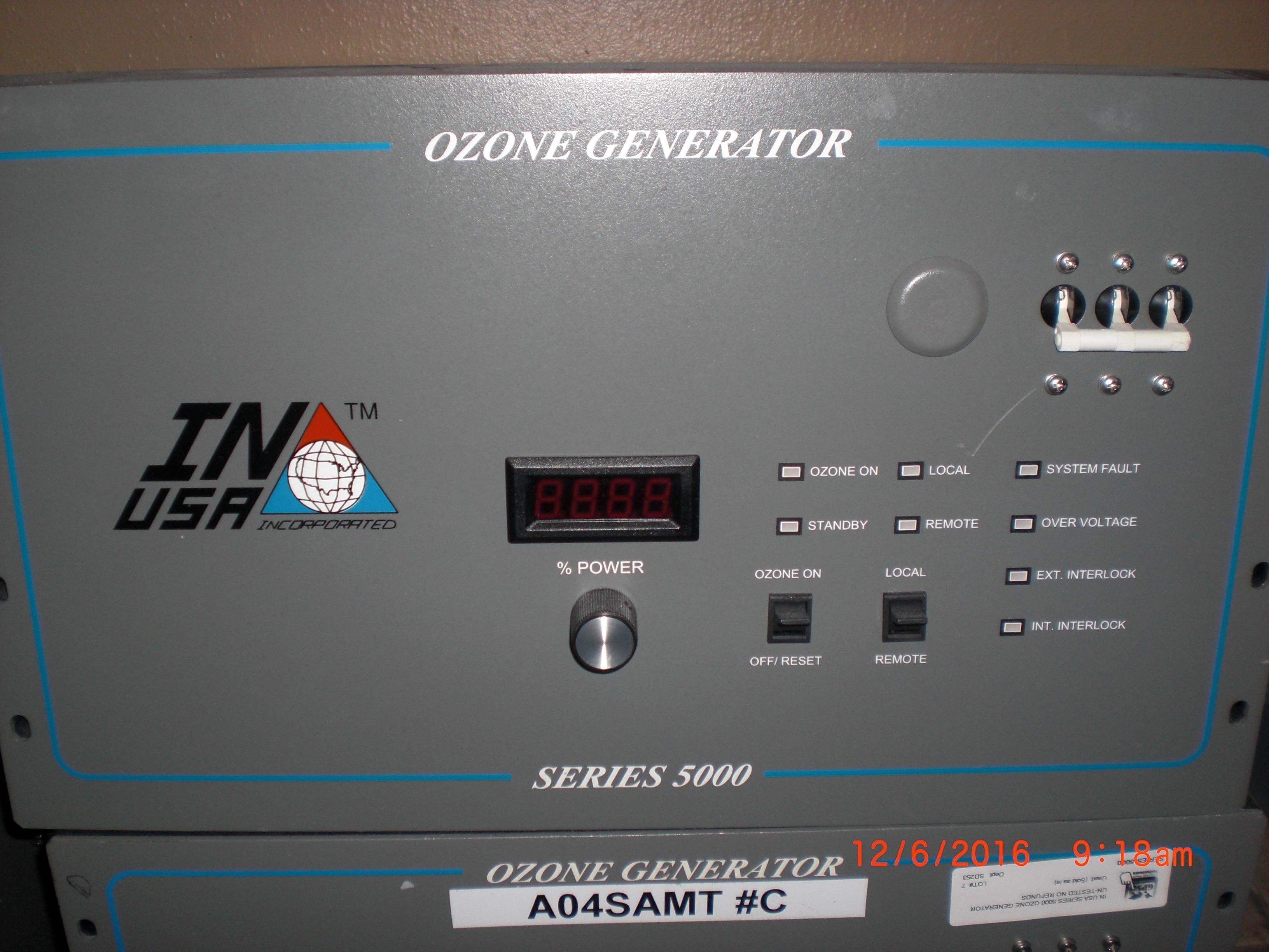 Generator OZONE IN USA 820-1148-01 Model OG-B-1-8