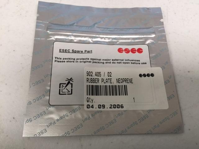 Hardware ESEC 902.405/02 RUBBER PLATE