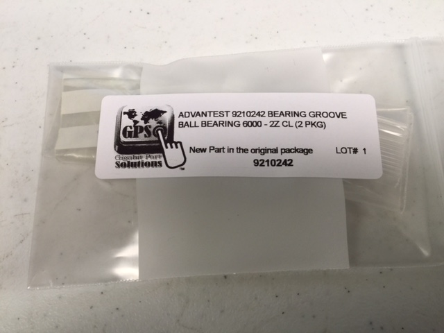Bearing GROOVE BALL  6000 - 2Z CL (2 PKG) ADVANTEST 9210242