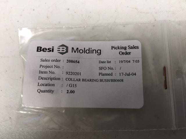 Bearing collar  bush/ bb0608 (2 pkg)BESI Molding 9220201