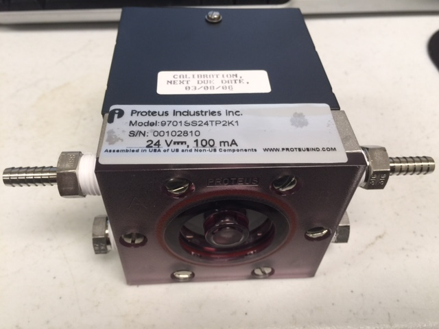 Flowmeter PROTEUS INDUSTRIES 9701SS24TP2K1 FLOW SWITCH MARK II MXP+ CAN USE EAGLE 75561
