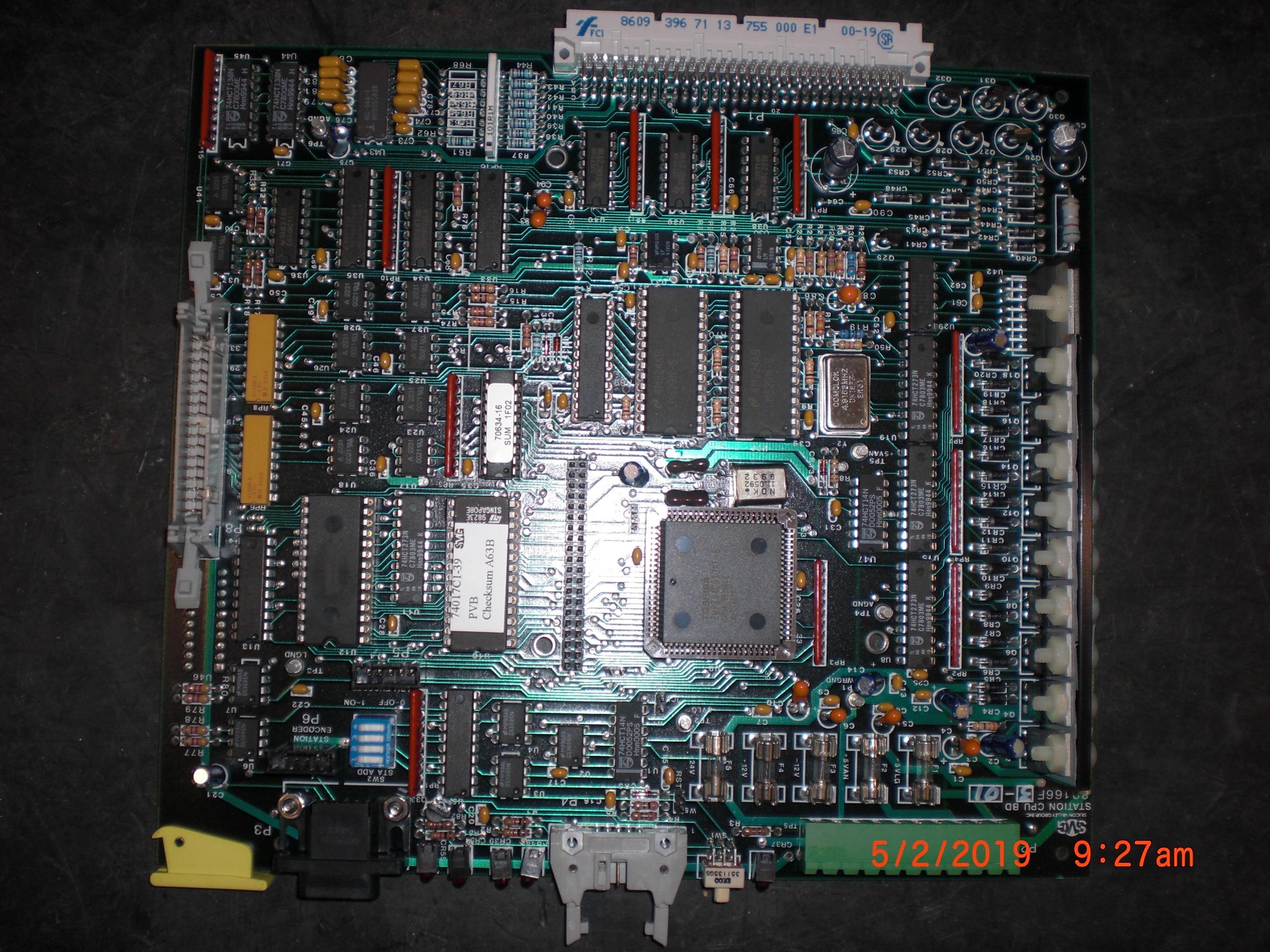 PCB SVG 99-80166F3-01 Station CPU BD