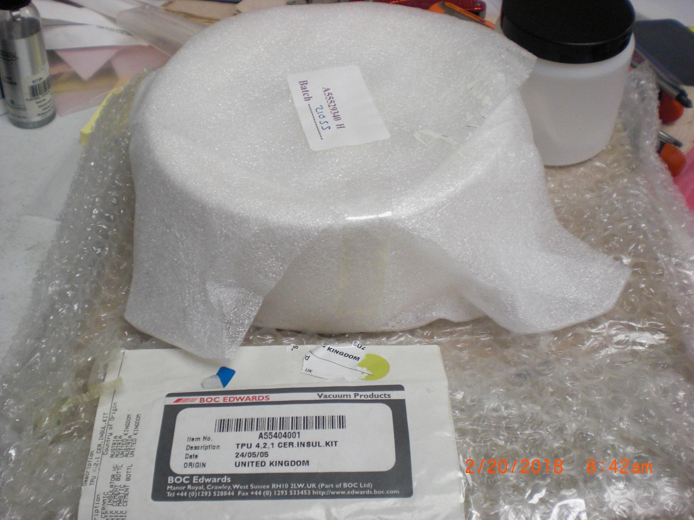 Kit EDWARDS  A55404001 TPU 4.2.1 CER Insulation