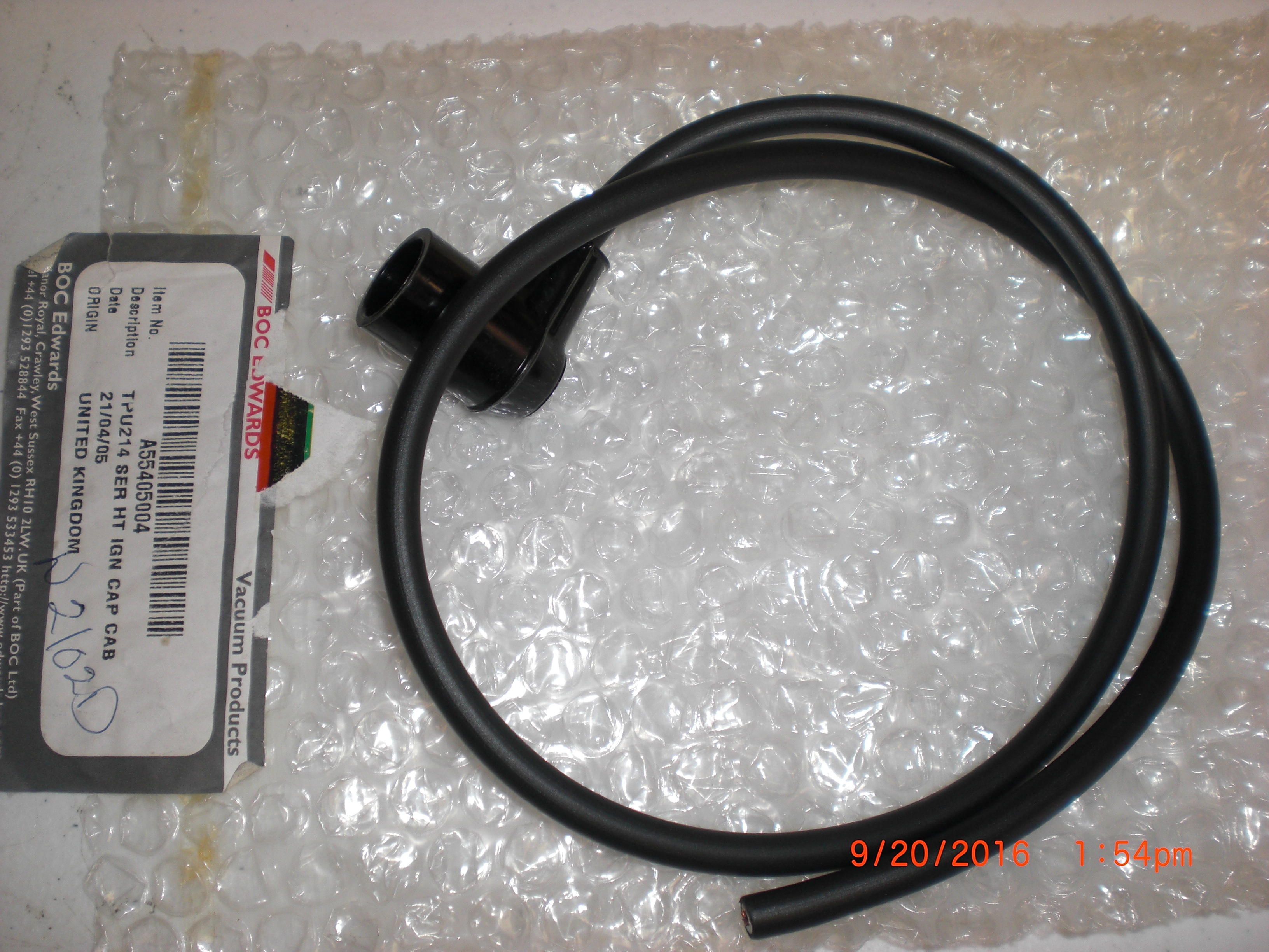 Cable Edwards A55405004 TPU214 SER HT IGN CAP CAB