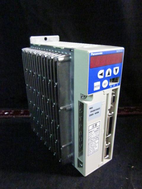 Amplifier SERVO DRIVER  PANASONIC MSD043A1XX22   INPUT 200V 50/60HZ, OUTPUT 500P/r