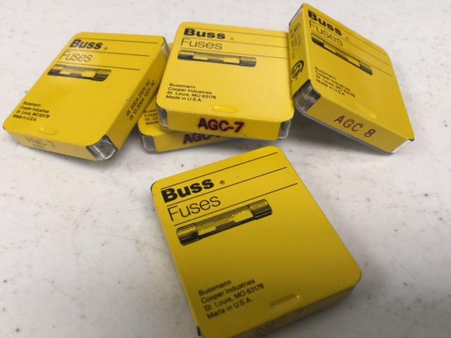 Fuse (5 PKG AUTOMOTIVE GLASS,7A,250V,FAST ACTING FUSBUSS AGC-7