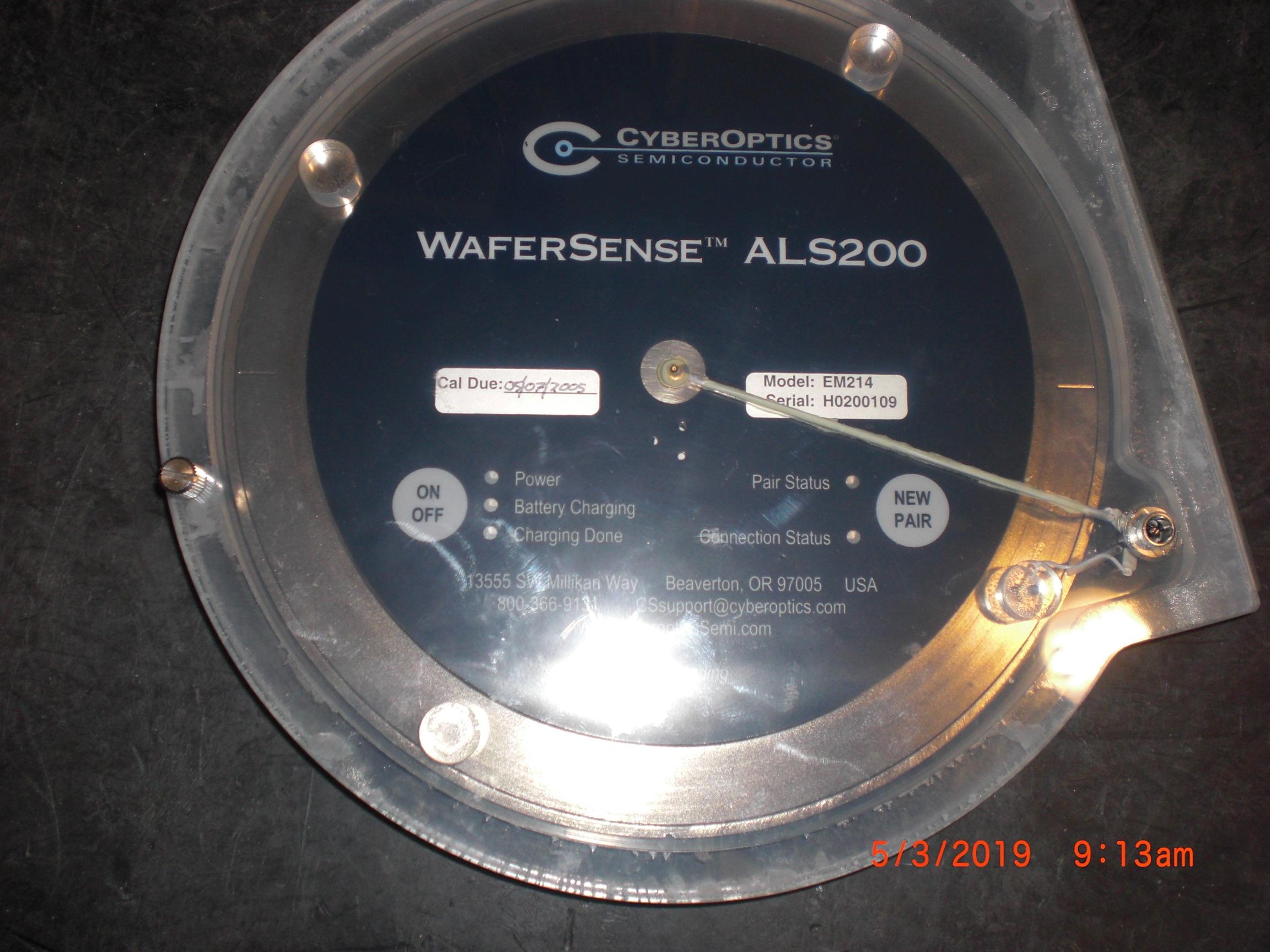 Sensor CYBEROPTICS ALS2000 WaferSense EM214 Leveling