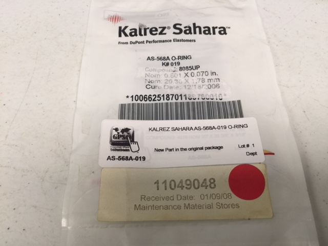 O-Ring  KALREZ SAHARA AS-568A-019 O-RING