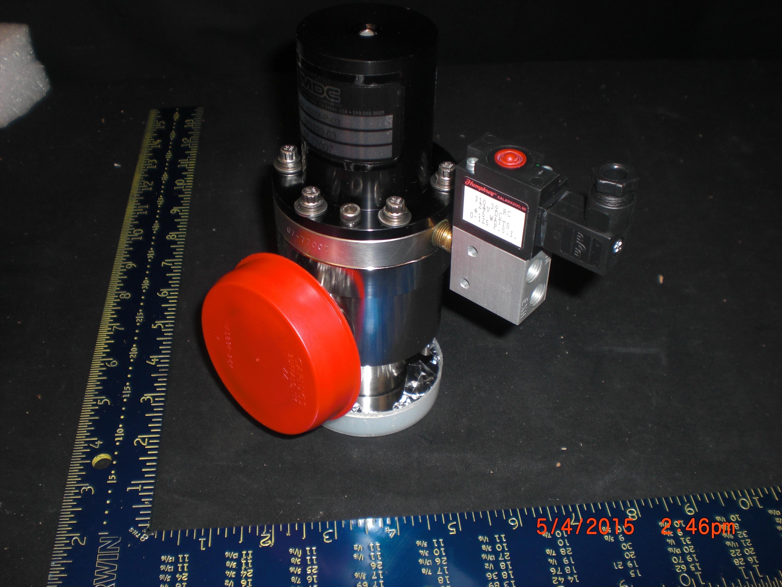 Valve Ultra High Vacuum angle MDC AV-150M-P-03