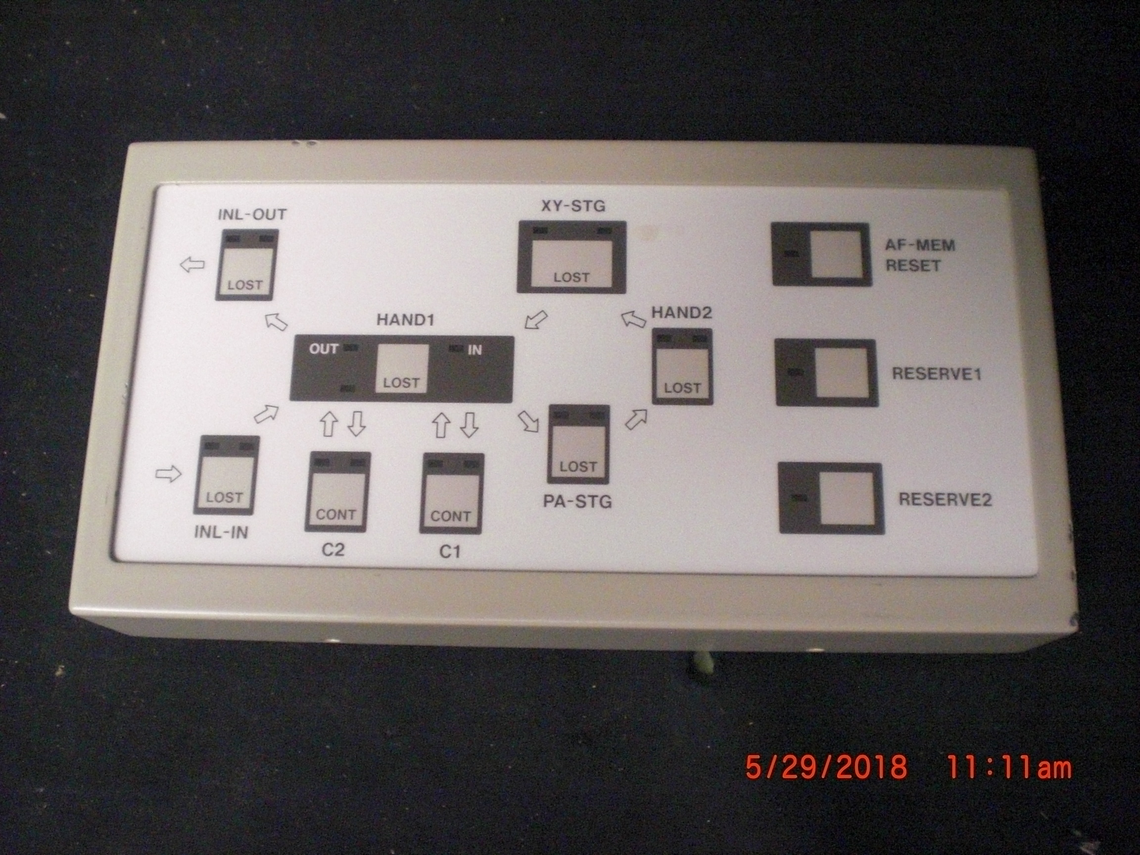 Monitor CANON BH3-8049 AF status panel harvested operational