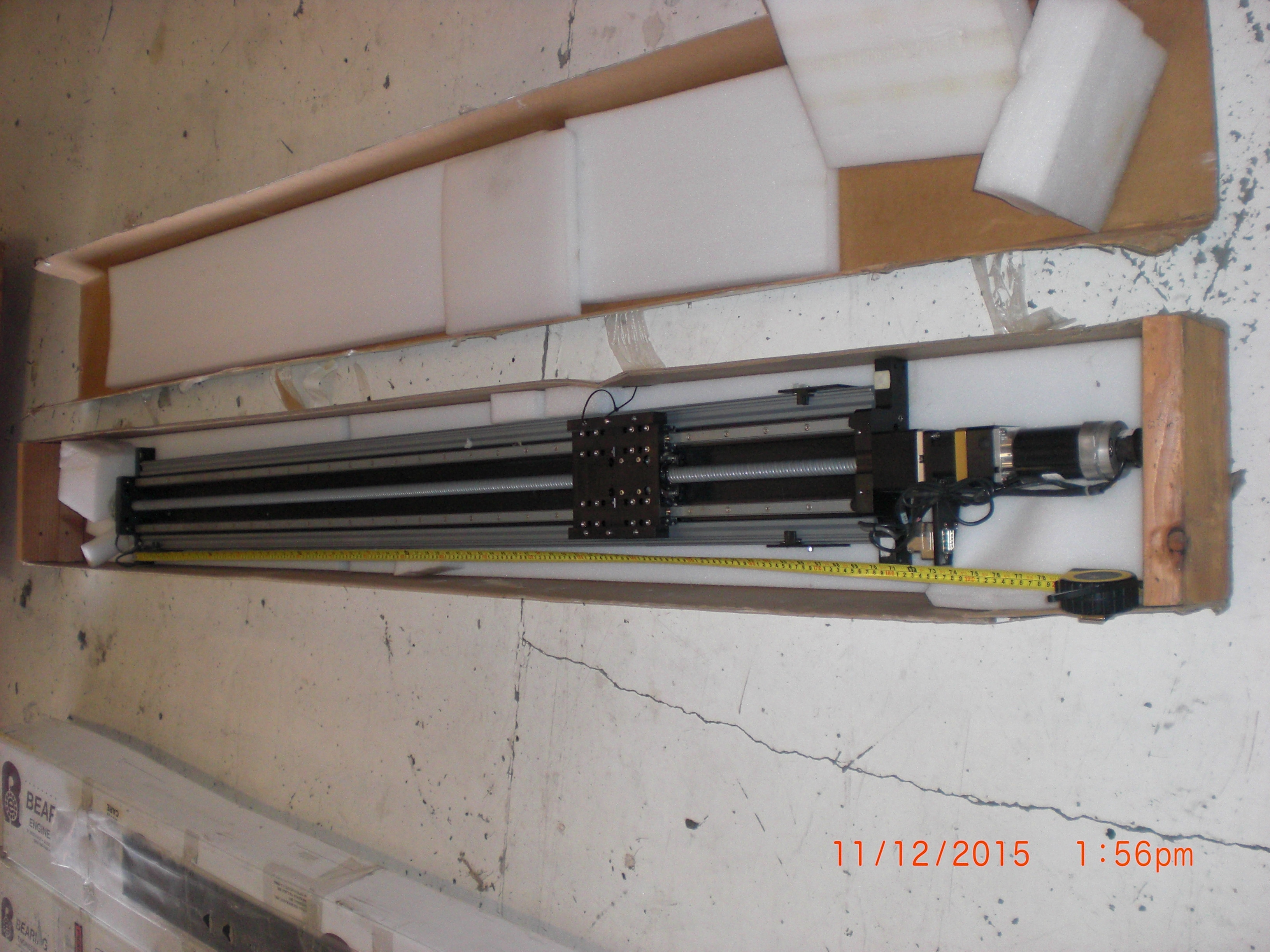 Actuator Linear Stage Heavy Duty - 62in travel, 6 X 6in table BEARING ENGINEERS C-00319