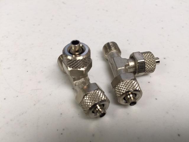 Fitting PARKER  C30806 T CONNECTOR 1/8 (P/i) (2 PKG)
