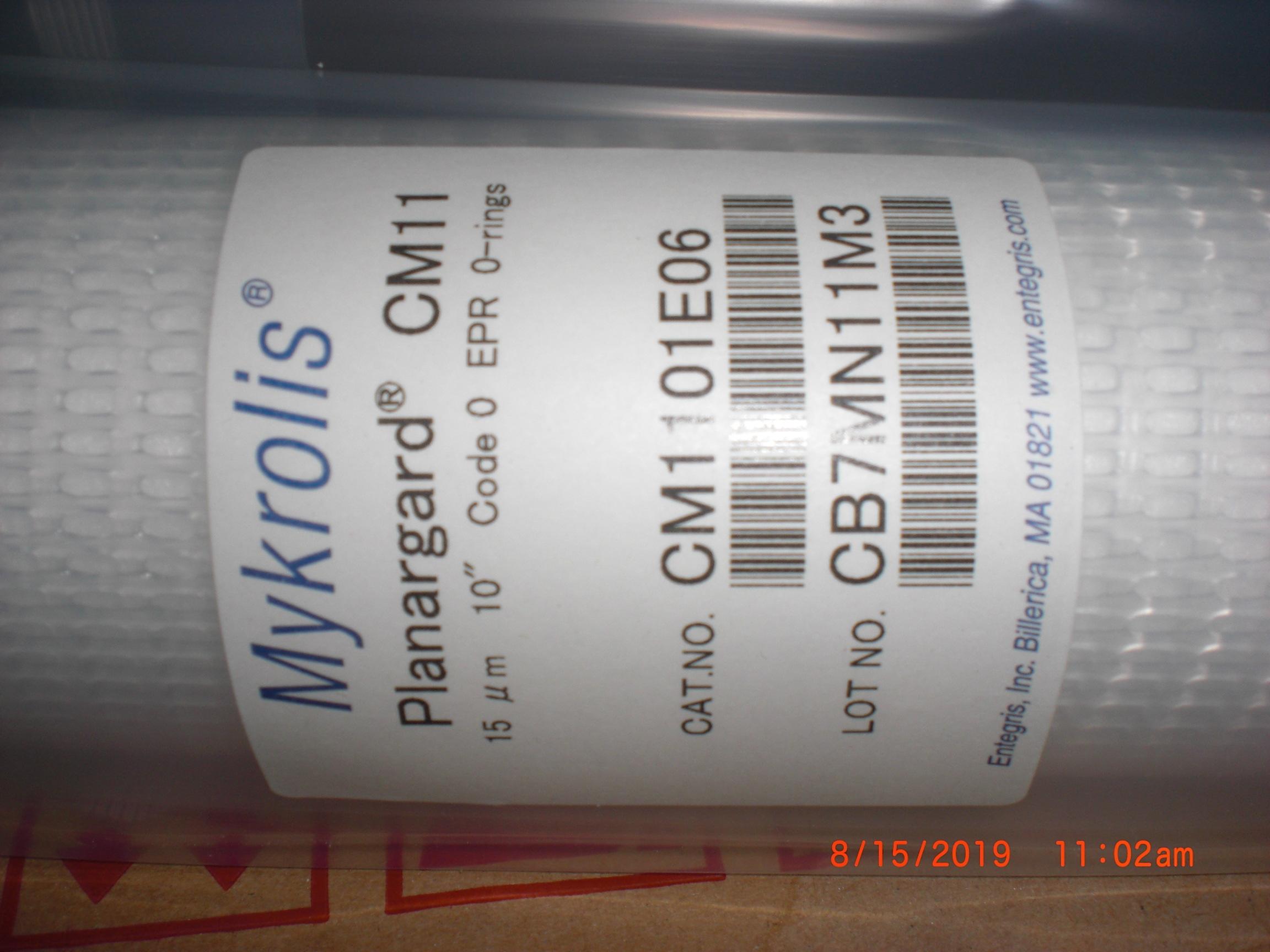 Filter  MILLIPORE Mykrolis CM1101E06 BOX of 6 Planagard CM11 15um 10 in