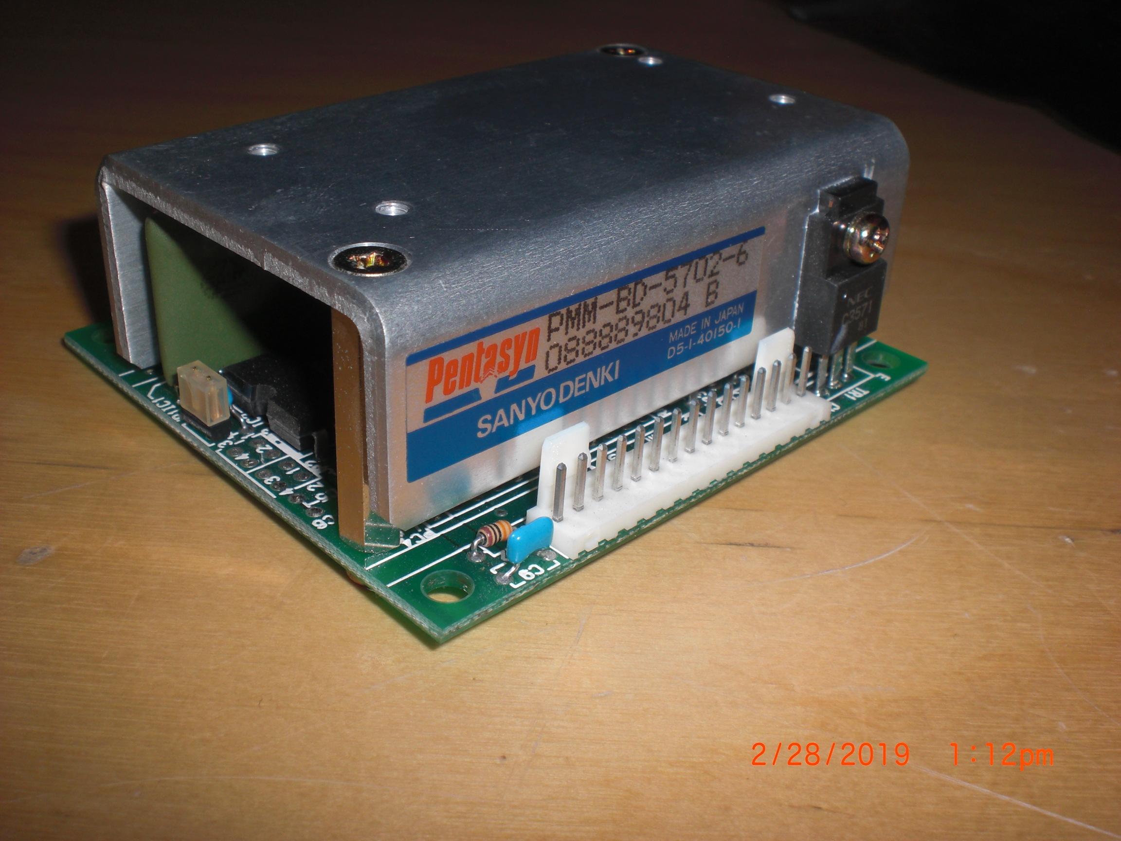 Driver SANYO DENKI PMM-BD-5702-6  (TEL) CT040-000951-1 MOTOR THETA  PENTASYN