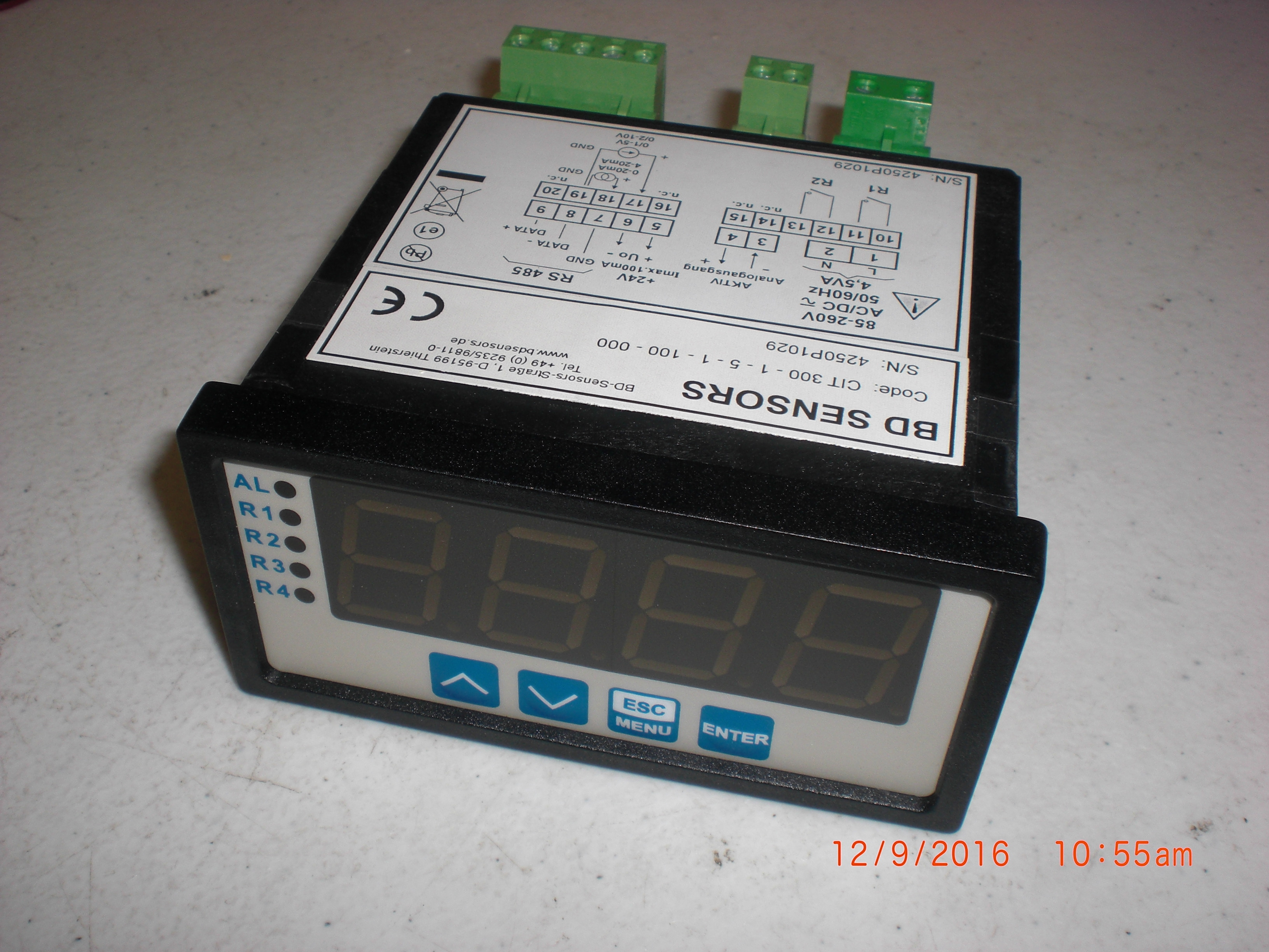 Controller BD Sensors CT300-1-5-100-000 process display 96 x 48 mm with contacts and analog output