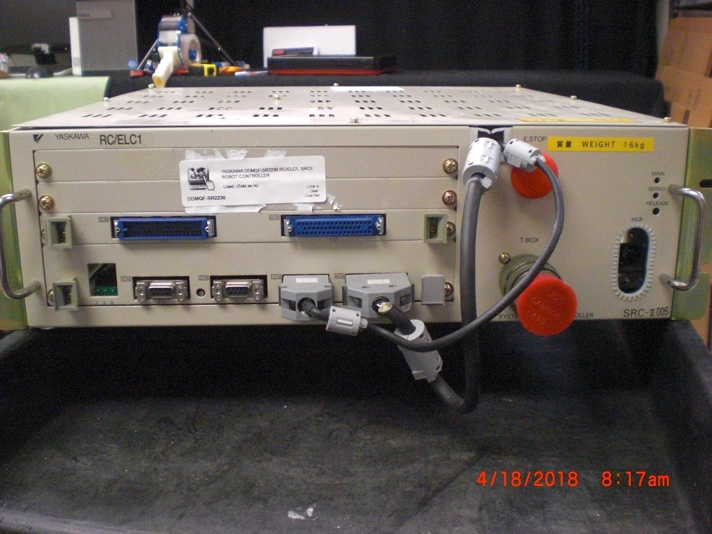 Pump YASKAWA DDMQF-SR2230 RC/ELC1, SRCII Robot controller TEL Unity