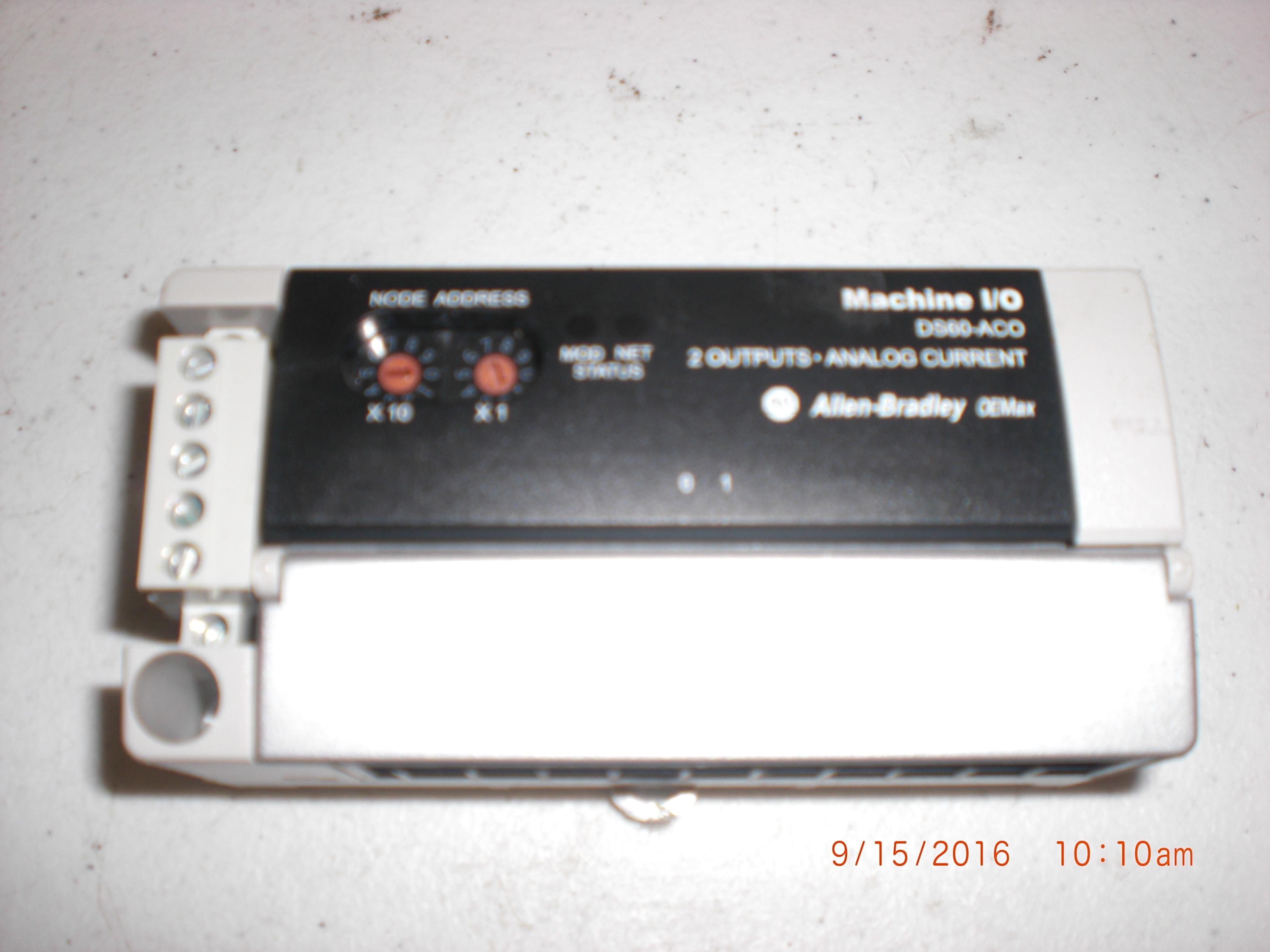 PLC ALLEN-BRADLEY DS60-ACO  OEMax Machine I/O basic OE MAX