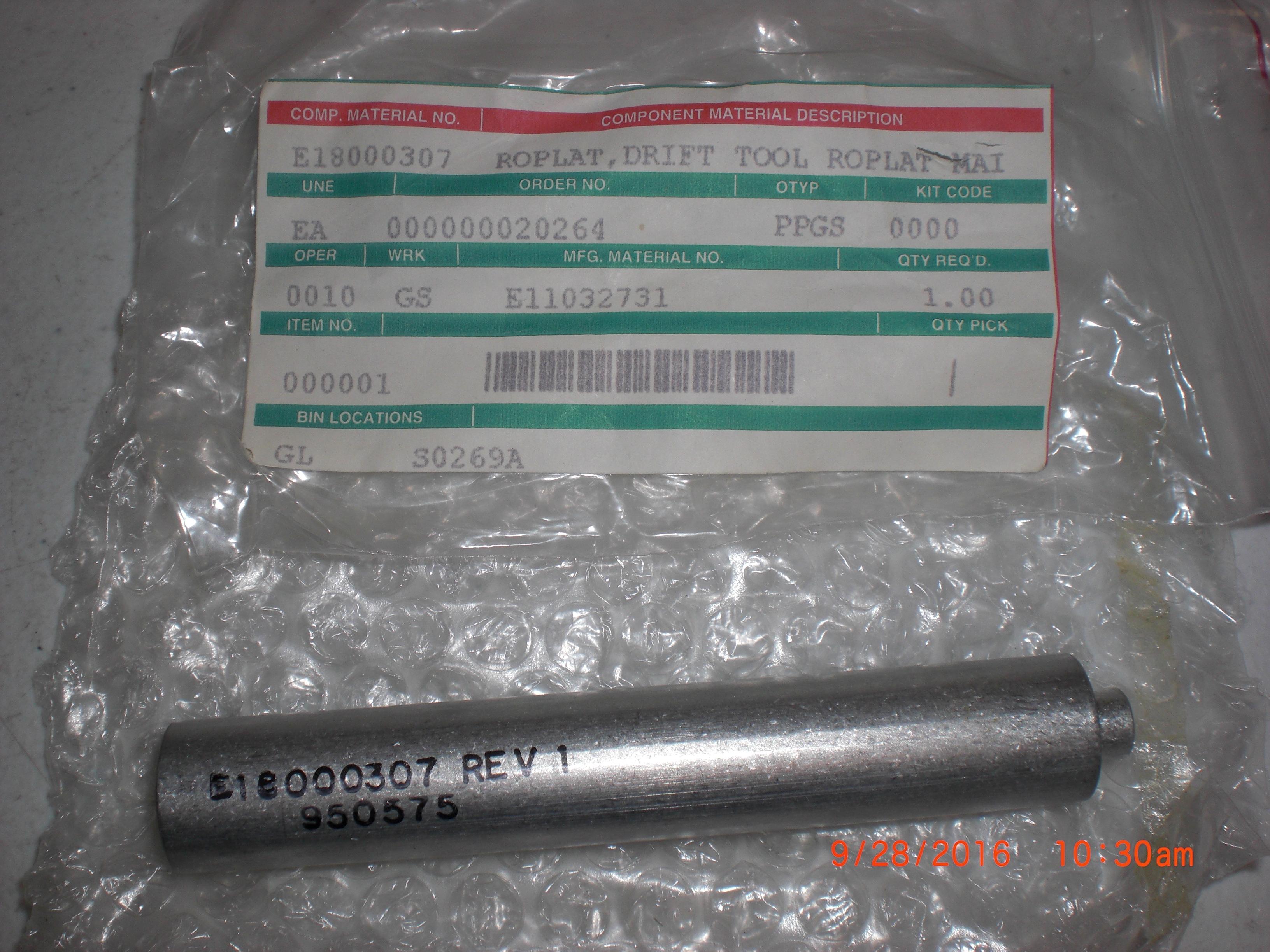 Tool VARIAN E18000307 ROPLAT Drift  E11032731