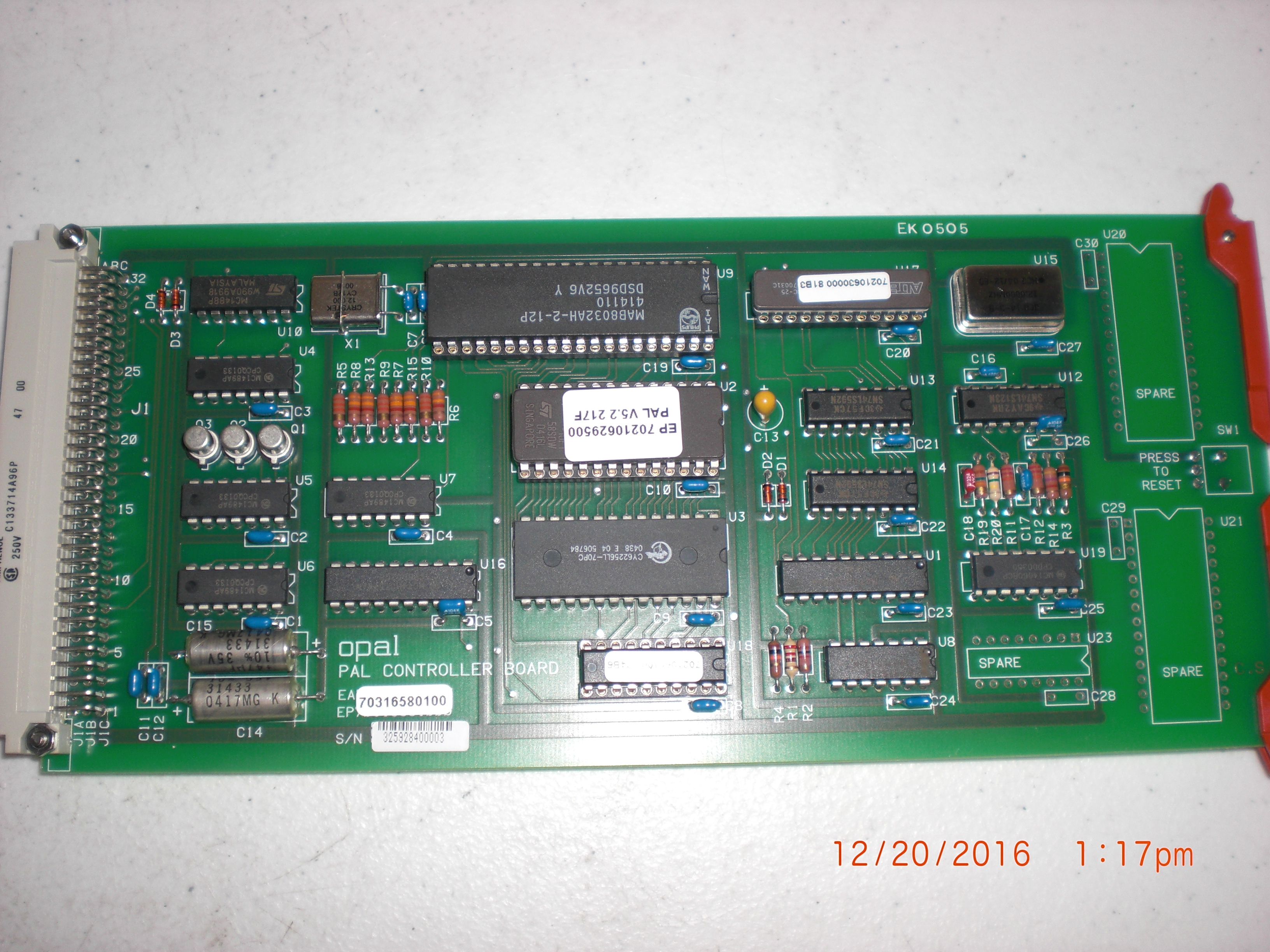 PCB  PAL Controller Opal EK0505 AMAT 70316580100 Core No Returns