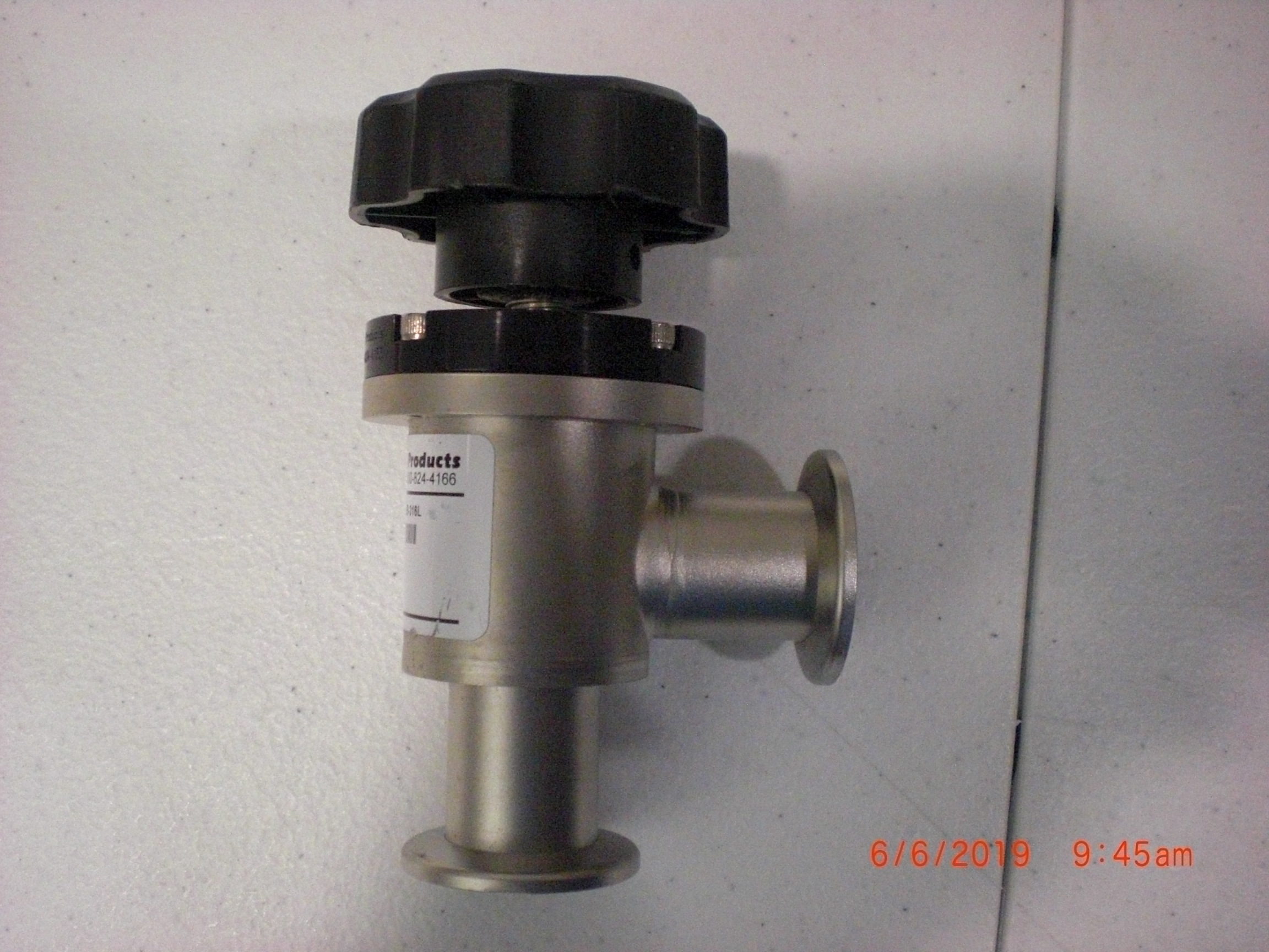 Valve NOR-CAL  EVS-1002-NWB-316L MANUAL ANGLE ISOLATION NW-25