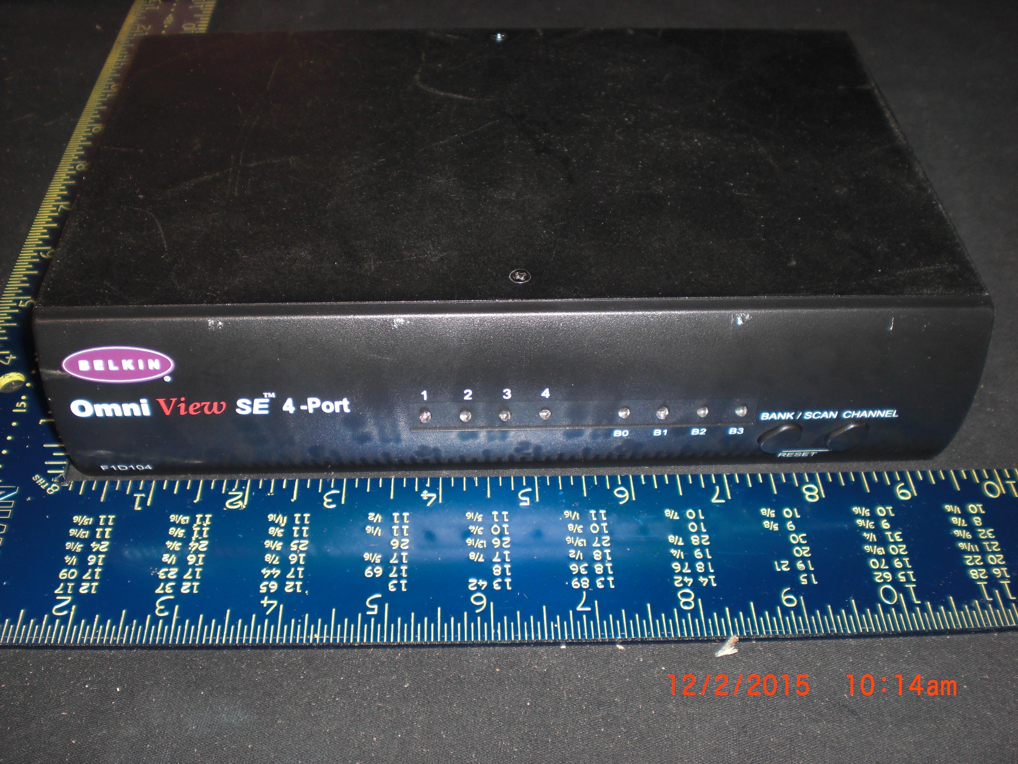 Computer Accessory BELKIN F1D104 Omni View SE 4 port w/o power cord