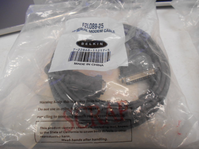 Cable BELKIN F2L088-25 Cable, RS-232, 25ft, D825m To D89F