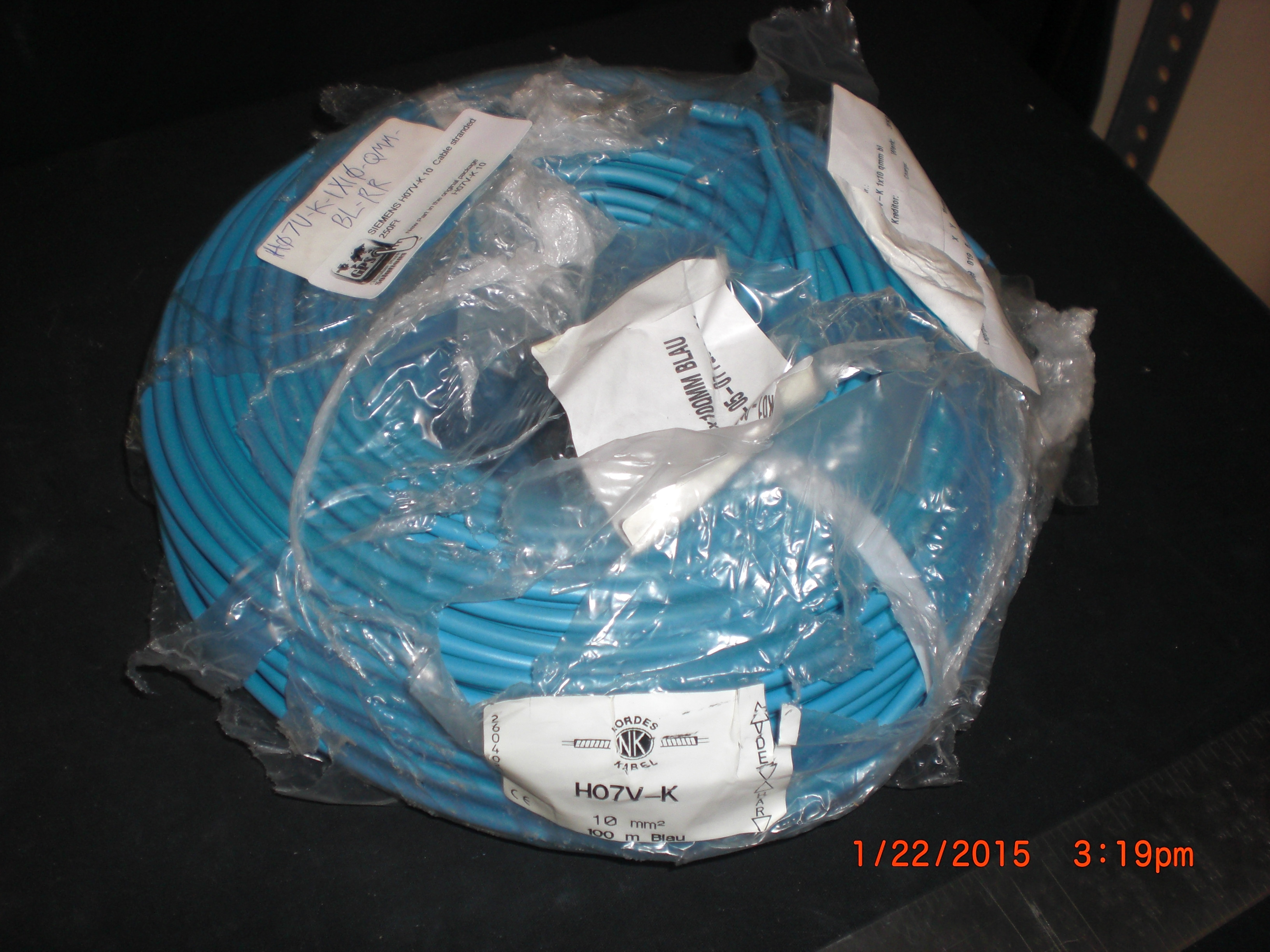 Cable SIEMENS H07V-K 10   stranded 250Ft