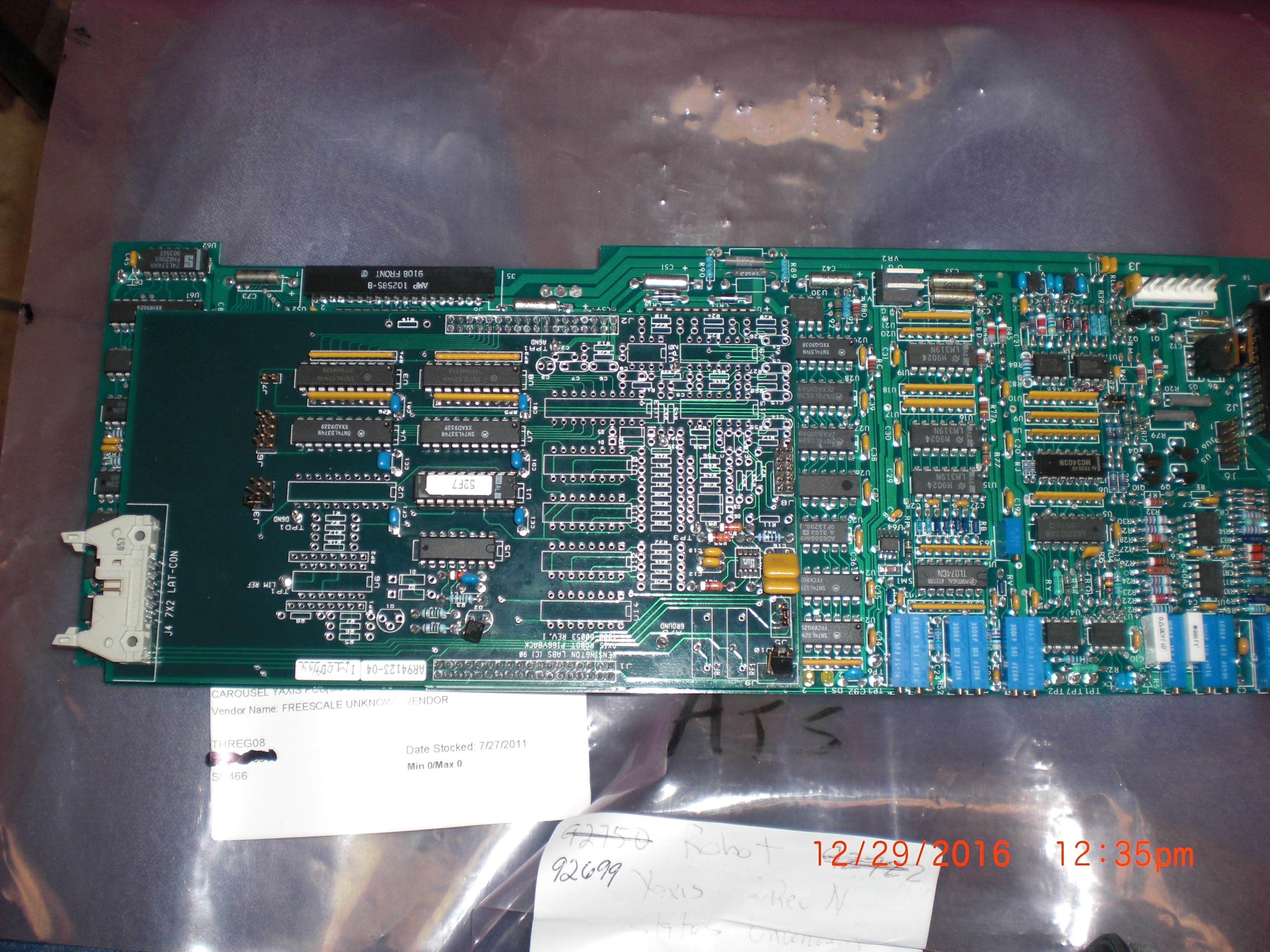 PCB KENSINGTON HR91205-08 Y-Axis TTL/RH PCB w/4000-60053 piggy back