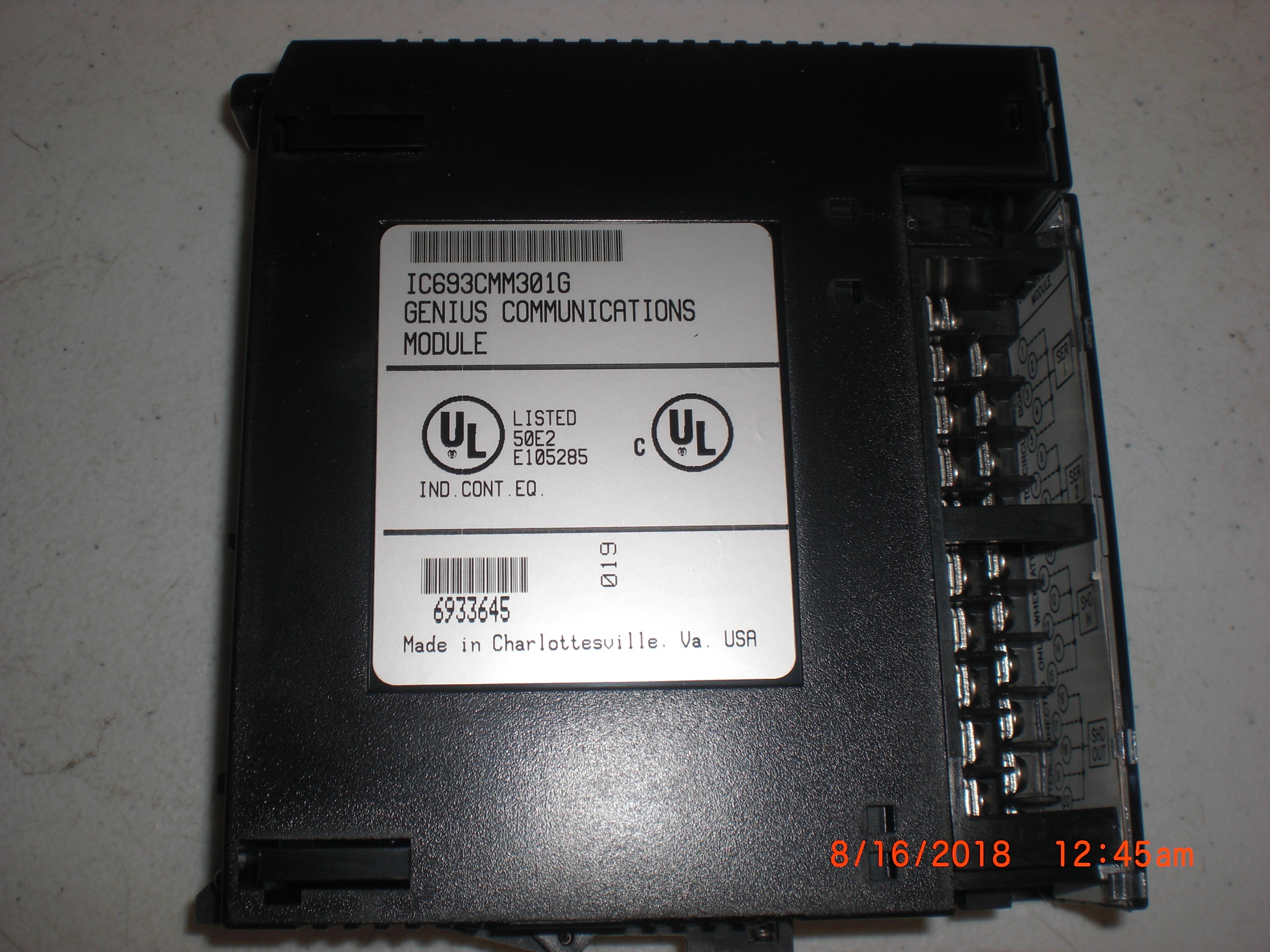 PLC GE FANUC IC693CMM301G MODULE,COMM,GENIUS Harvested new