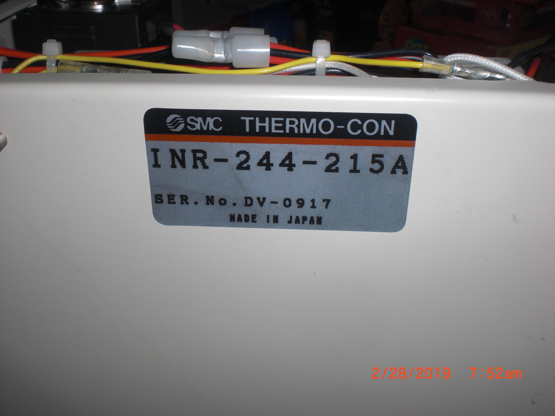 Chiller SMC  INR-244-215A Thermo-con for TEL ACT 8