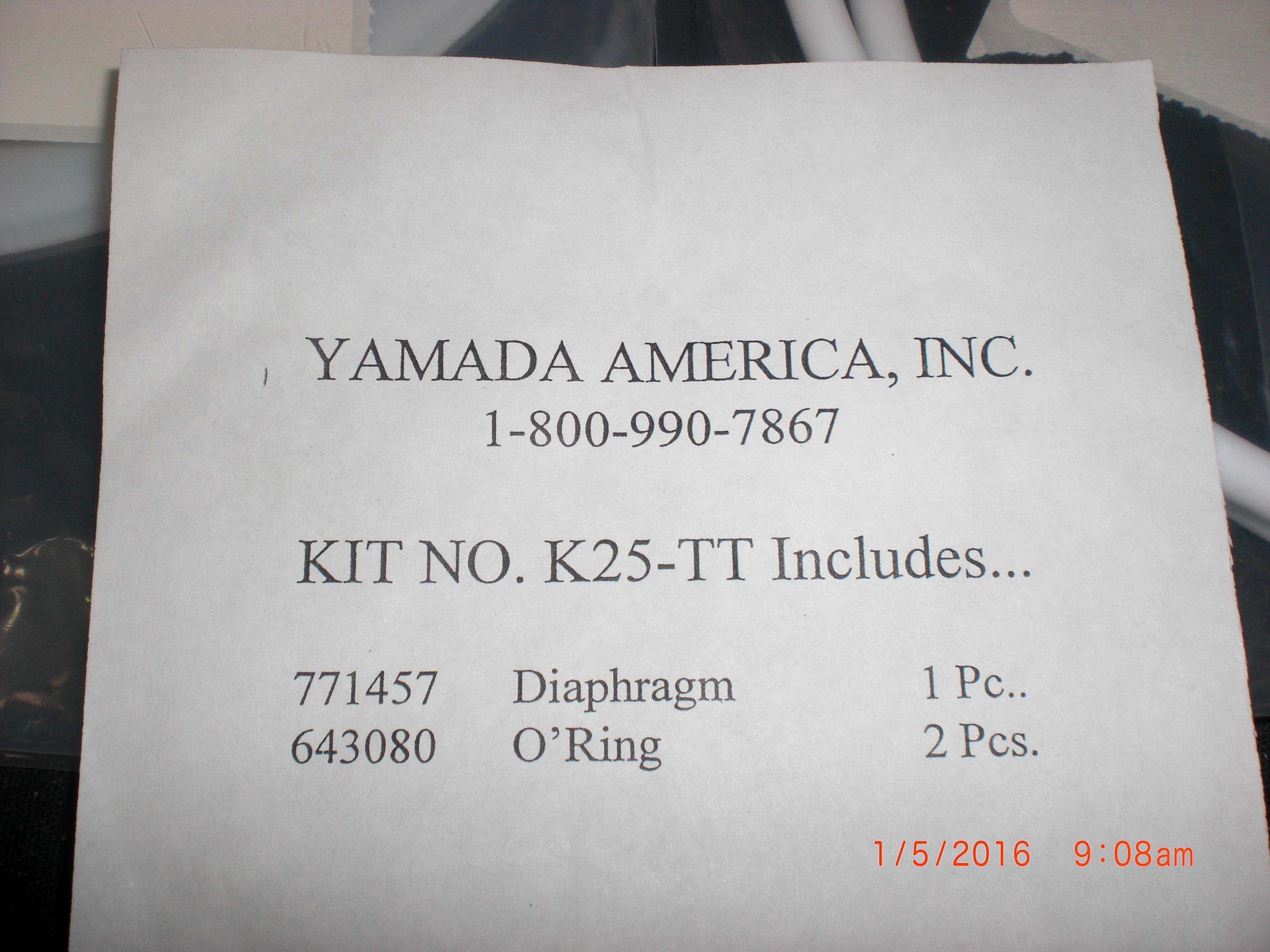 Pump yamada k25 tt rebuild kit pulse damper 1 771457 diaphragm 2 pump yamada k25 tt rebuild kit pulse damper ccuart Images