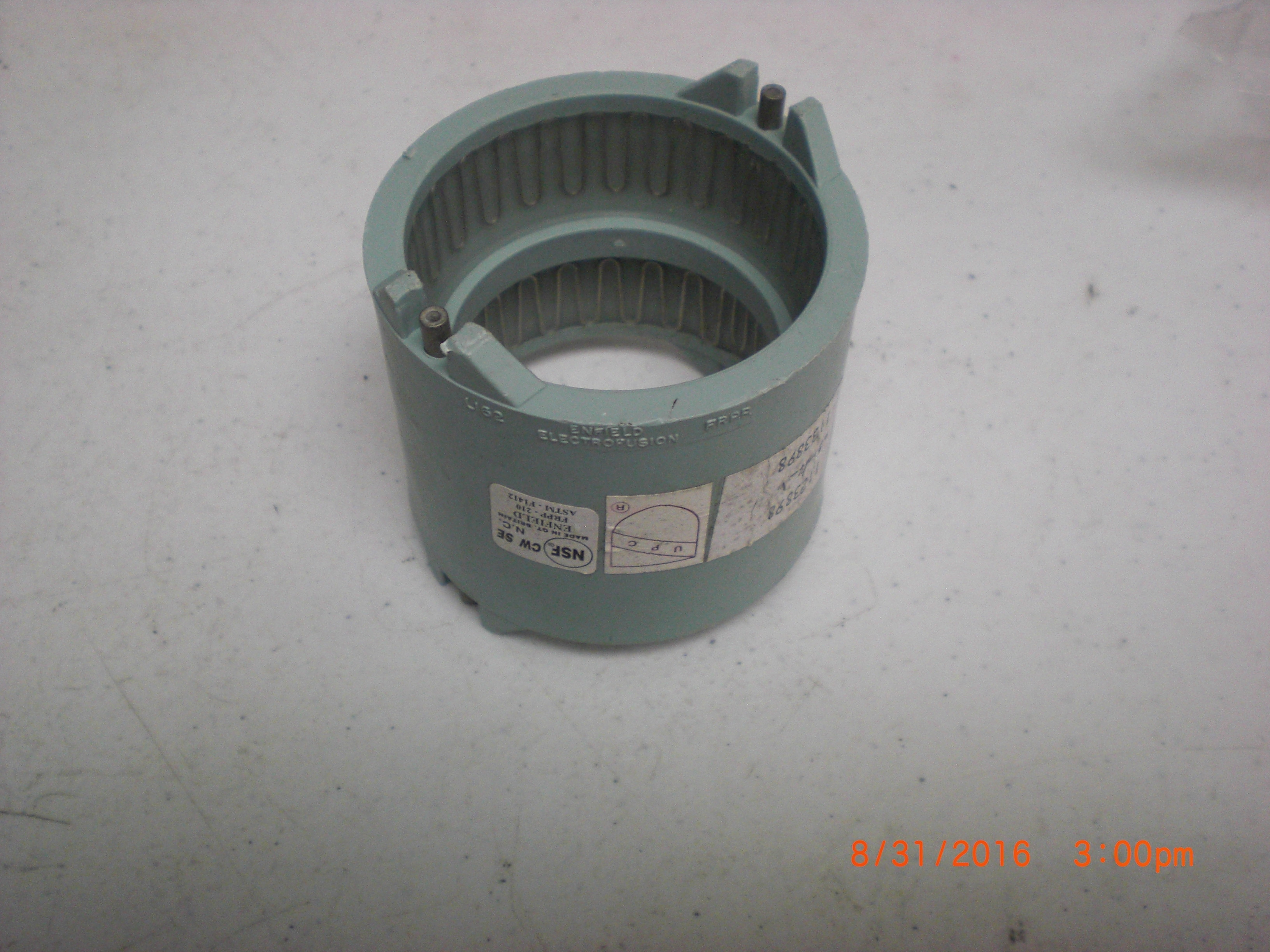 Fitting Enfield L162 Enfusion 2in FABRICATED REPAIR COUPLING EJ FRPP acid waste