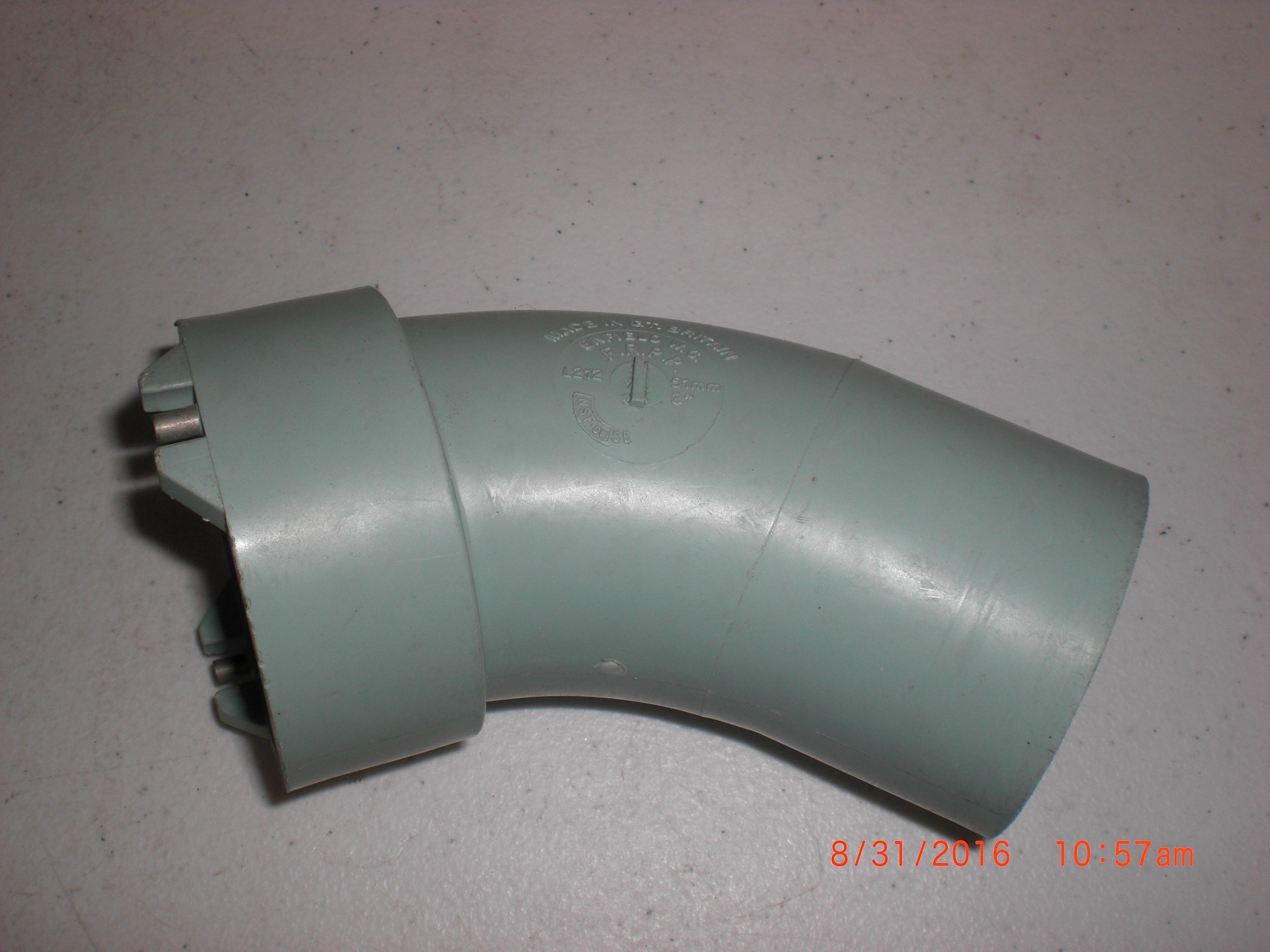 Fitting Enfield L212 Enfusion 2in 1/8 BEND EJ x Sp 45 deg FRPP acid waste