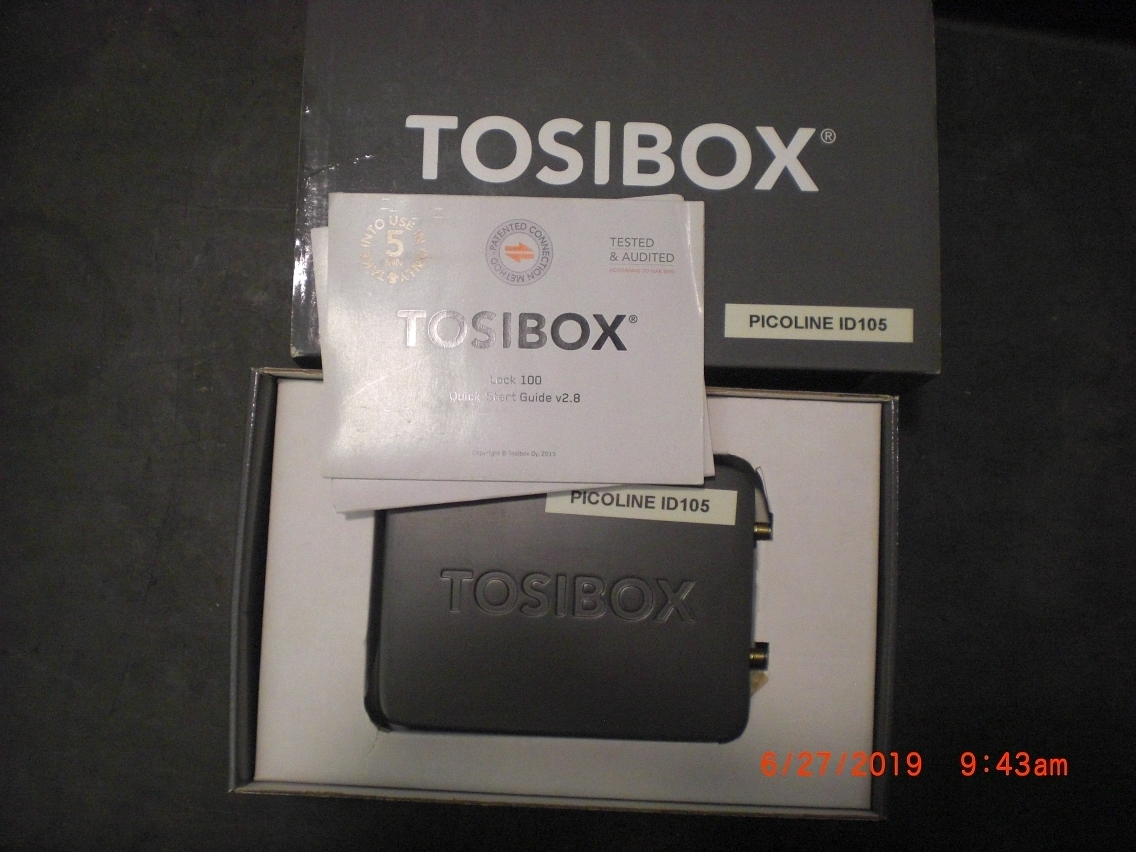 Computer Accessory Tosibox LOCK100 intelligent remote access