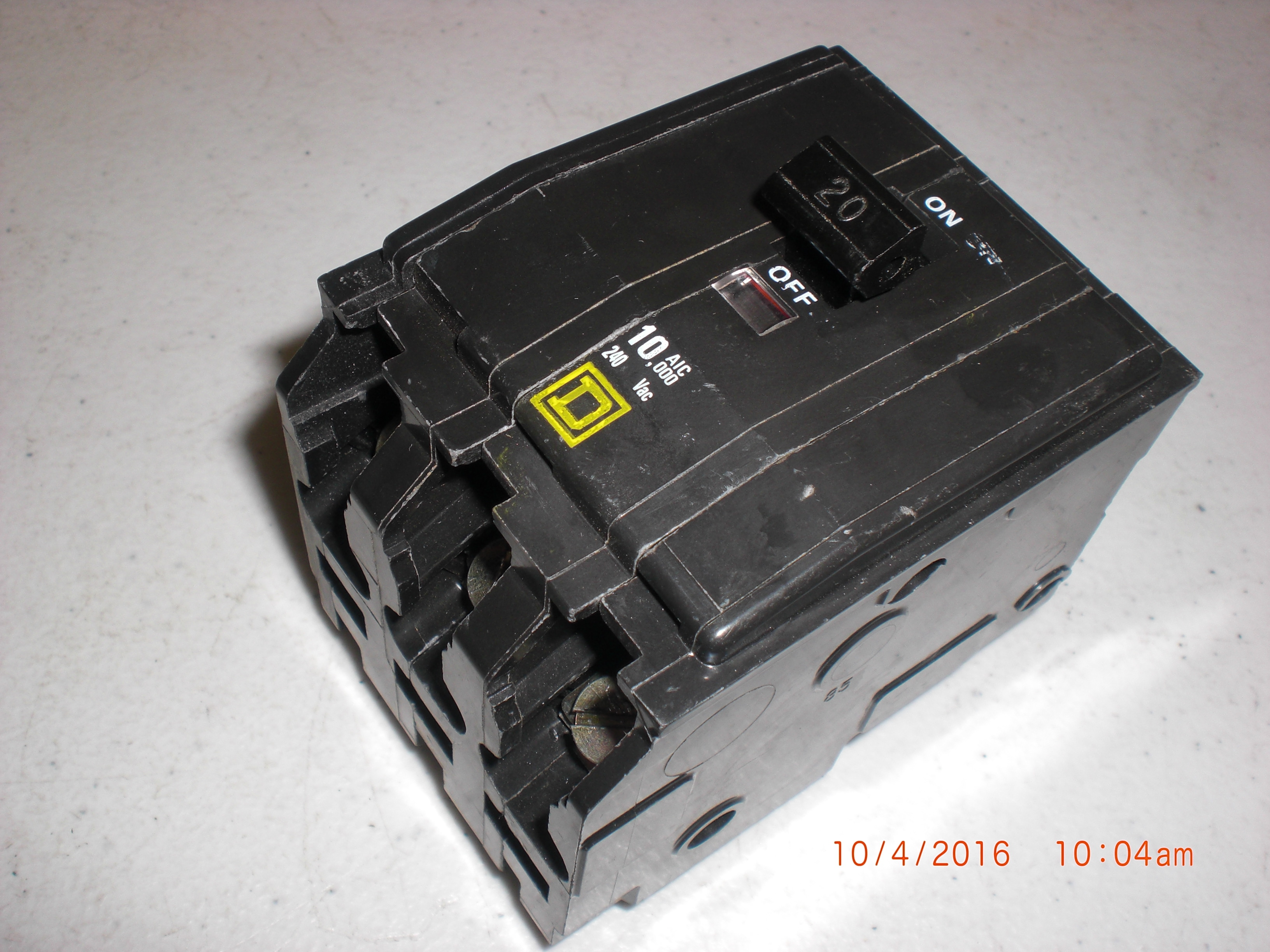Electrical SQUARE D  LP-2567 Circuit Breaker  HACR TYPE 20A 240V PM-9419