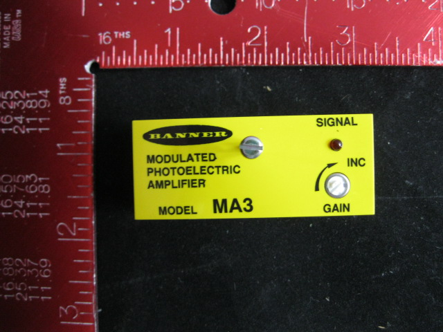 Amplifier BANNER  MA3 Modulated Photoelectric amplifier 10-30VDC 20MA RED-LED