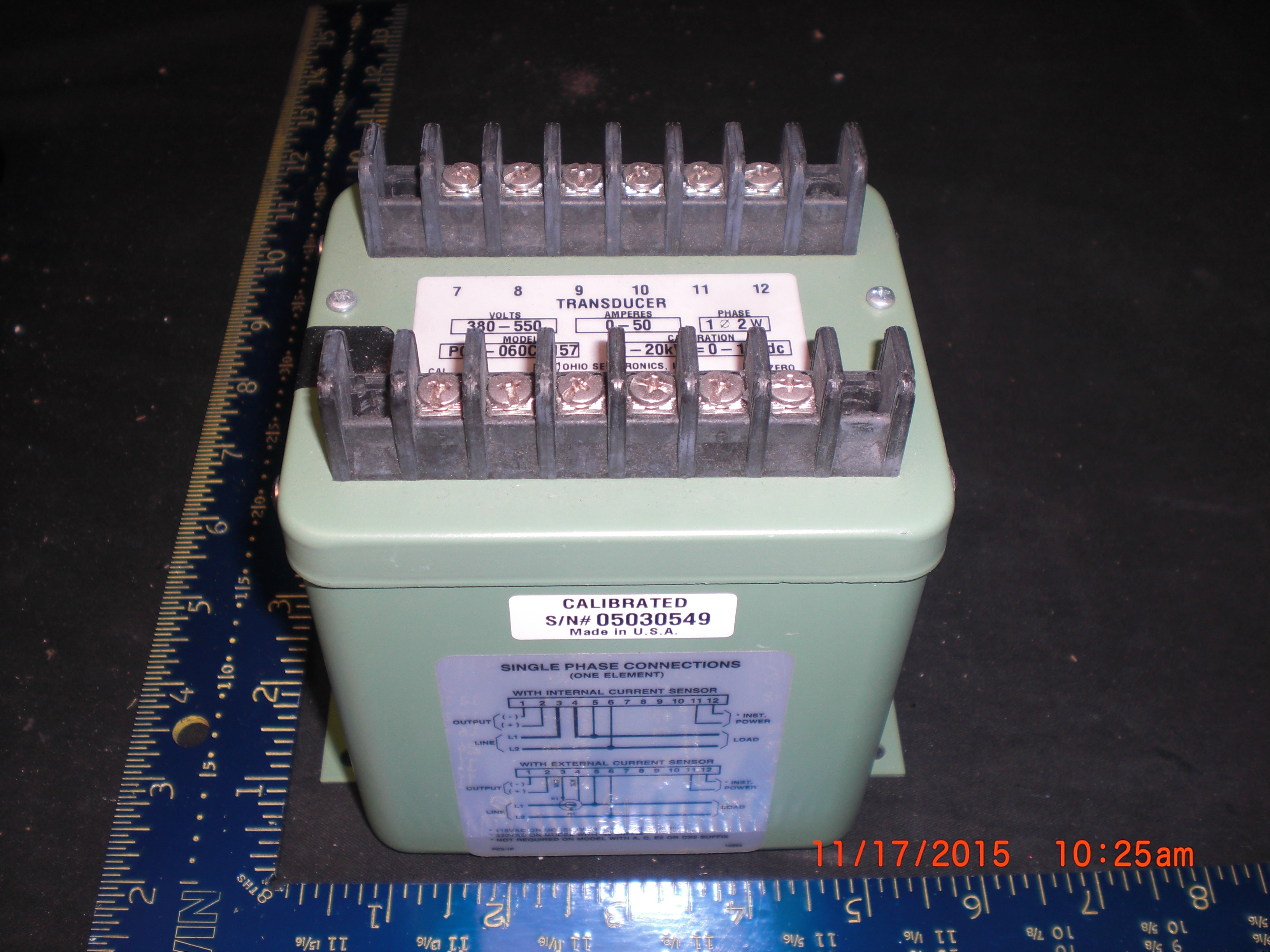Transducer AC WATT Ohio Semitronics PC-060CY157  Includes Phase-Fired & Zero-Crossing