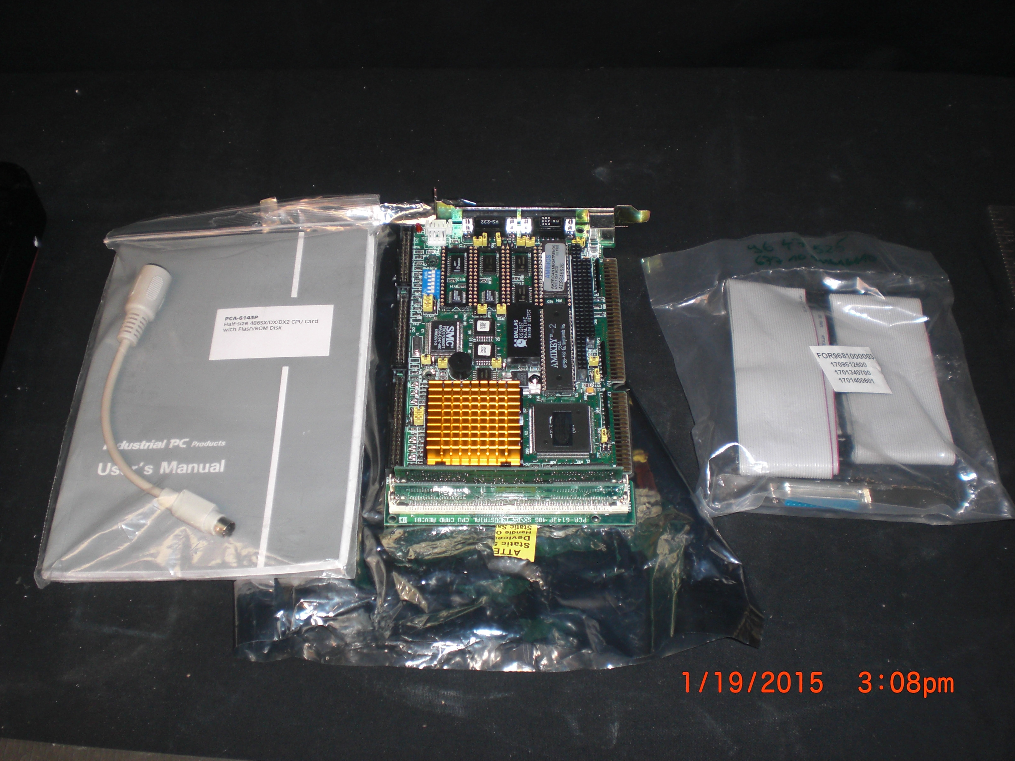 Computer Accessory PCA-6143P Industrial PC Half Size 486SX/DX/DX2 CPU Card with Flash/ROM Disk