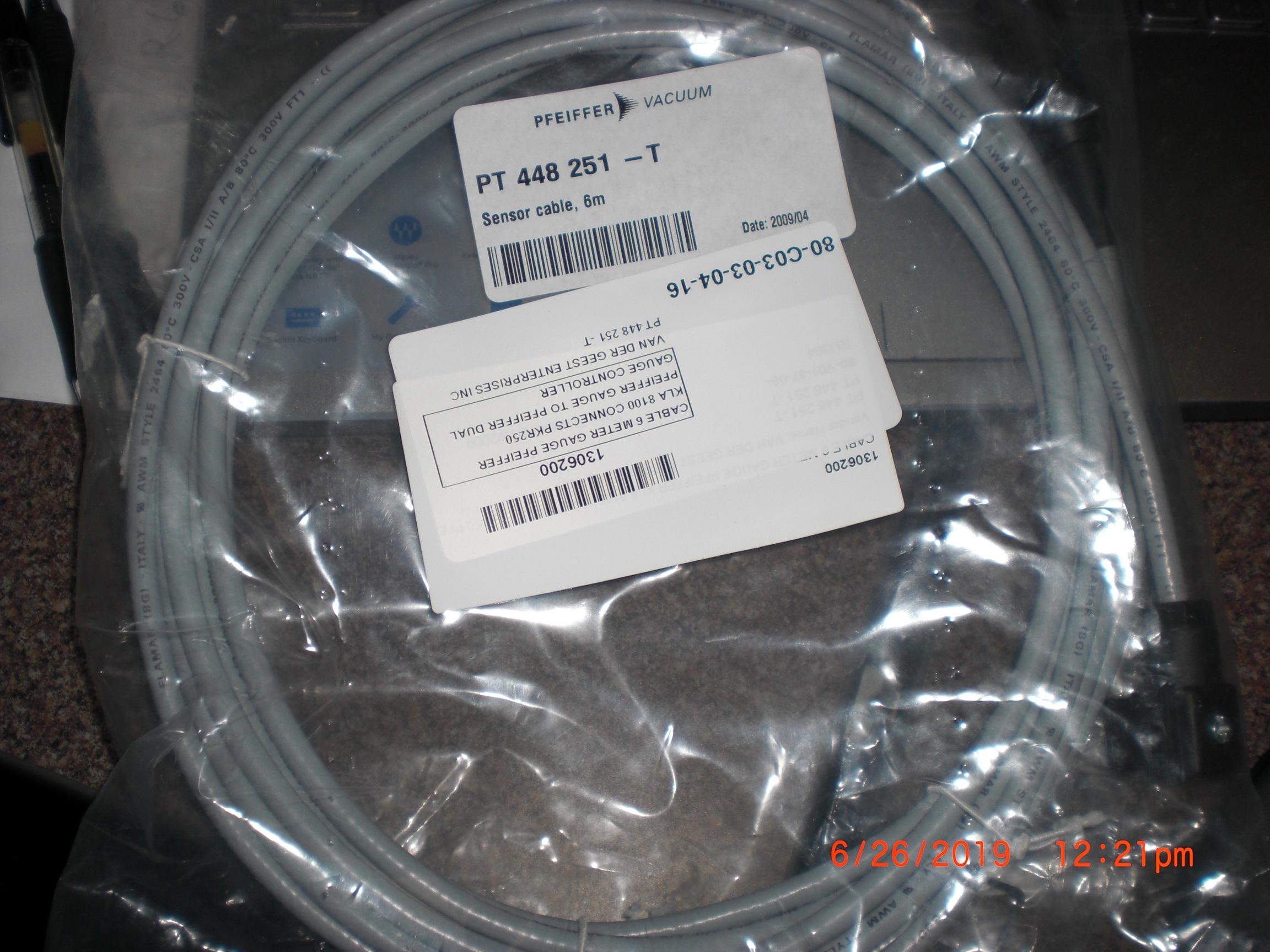 Cable PFEIFFER VACUUM PT 448 251-T Sensor 6M KLA 8100