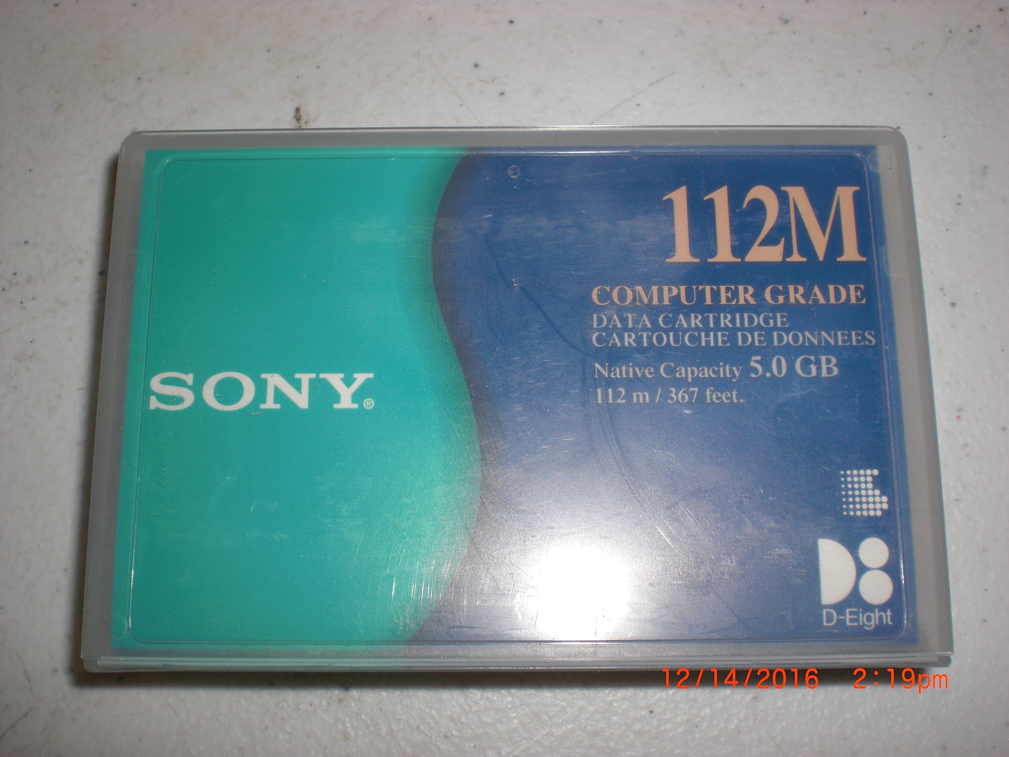 Computer Accessory SONY QG112M Data Tape Cartridge  5GB