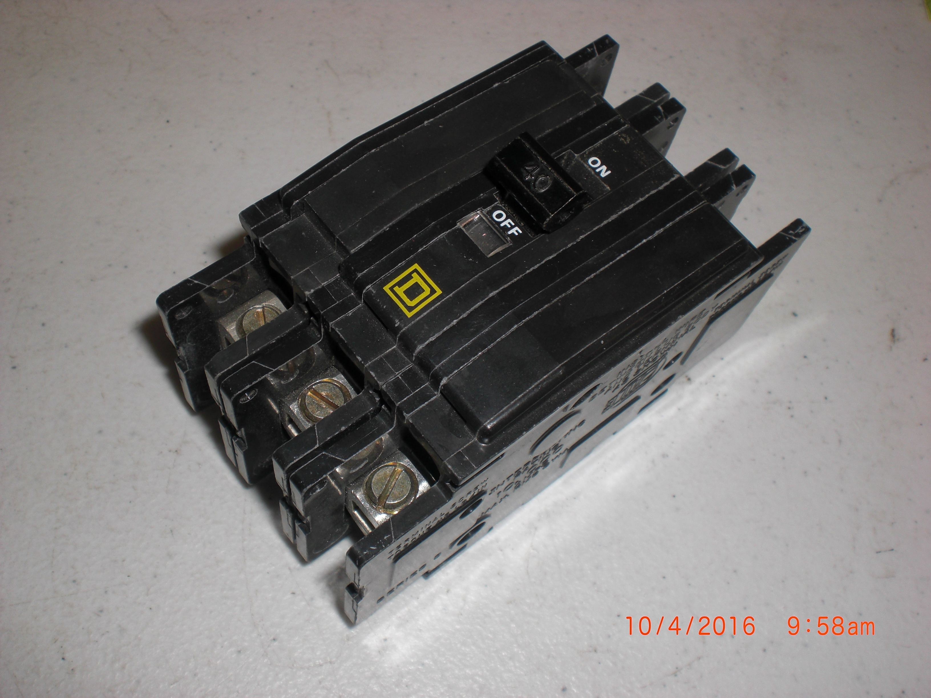 Electrical SQUARE D QOB340 Circuit Breaker  HACR 3P 40A 120/240