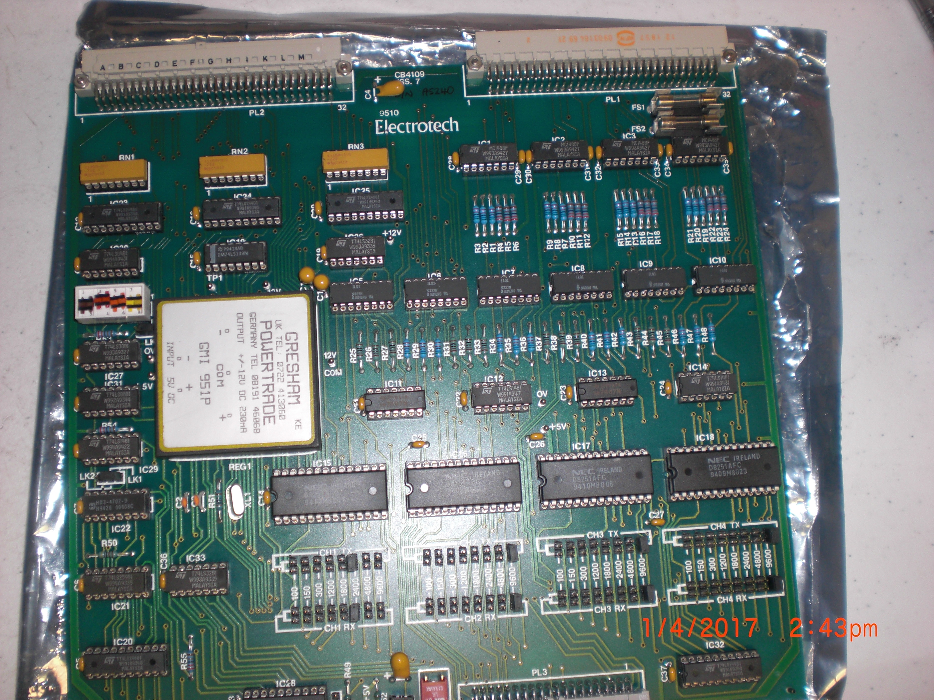 PCB R44109Secs 2 ELECTROTECH 9510 Aviza RP01745