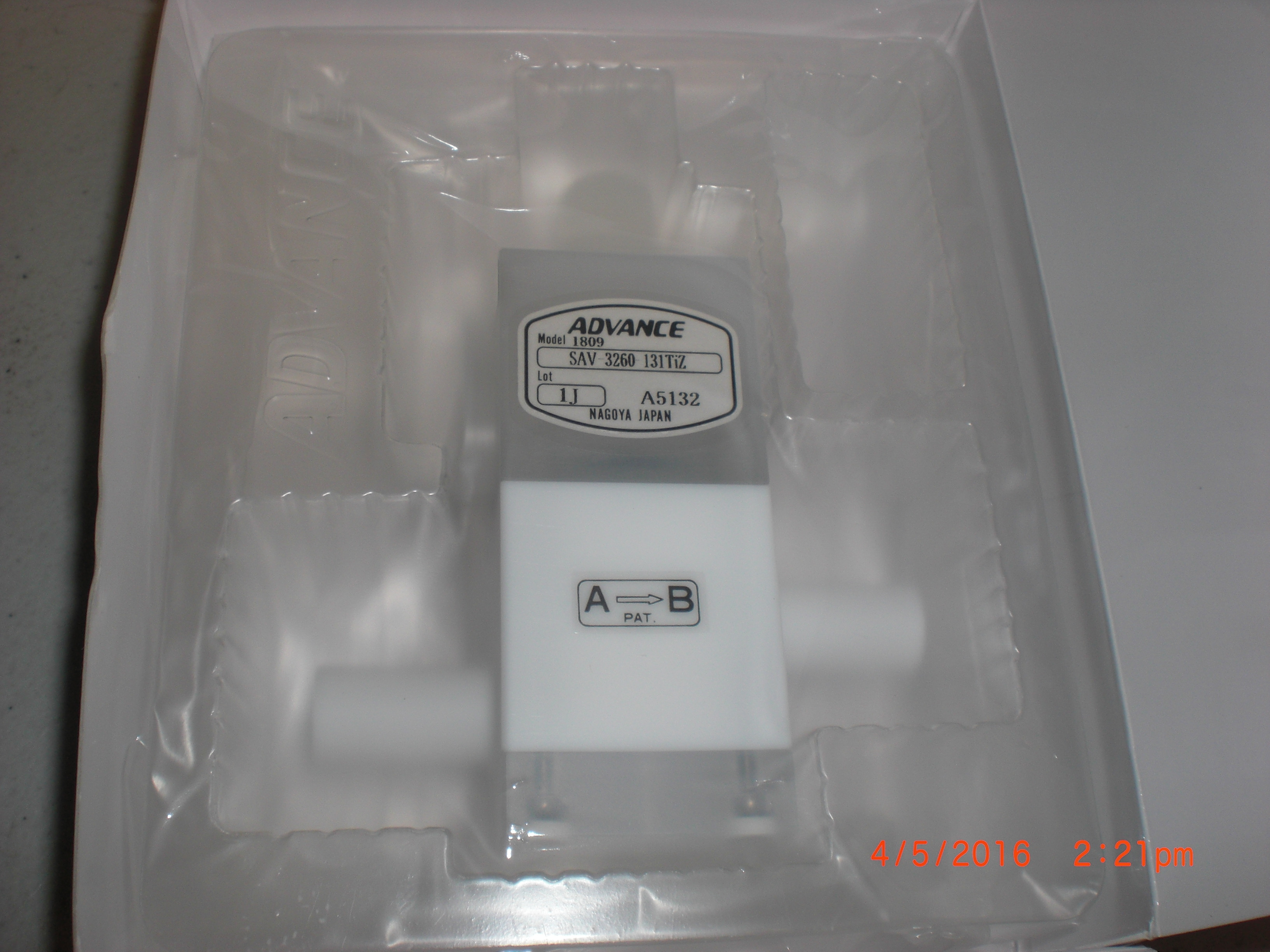 Valve ACE 3360  PTFE Teflon Pneumatic Valve adjustable flow